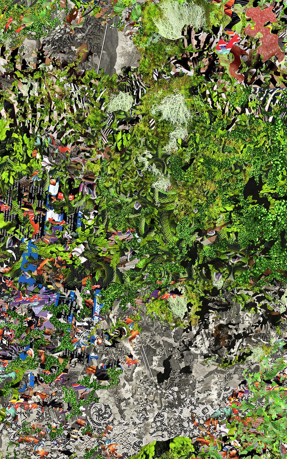 Case Simmons, Simmons & Burke, Sweet Green, Dutchmasters, Kohn Gallery,Pigment Print, Digital Collage,Digital Art, Photoshop Collage, Contemporary Collage, Photoshop Actions, Case Simmons Art, Collage Fine Art, Digital Landscape