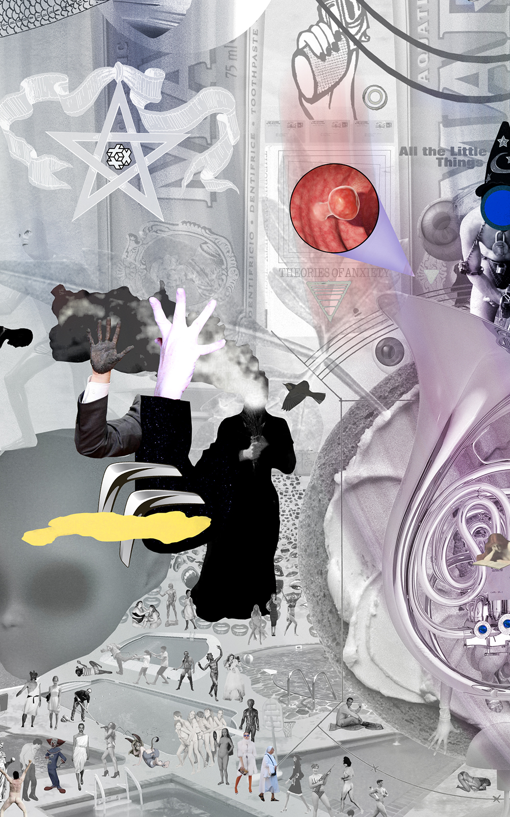 Case Simmons, Simmons & Burke, Uncertain Landscape, The Radicant, Hieronymus Bosch, Pigment Print, Digital Collage,Digital Art, Photoshop Collage, Contemporary Collage,Case Simmons Art, Collage Fine Art