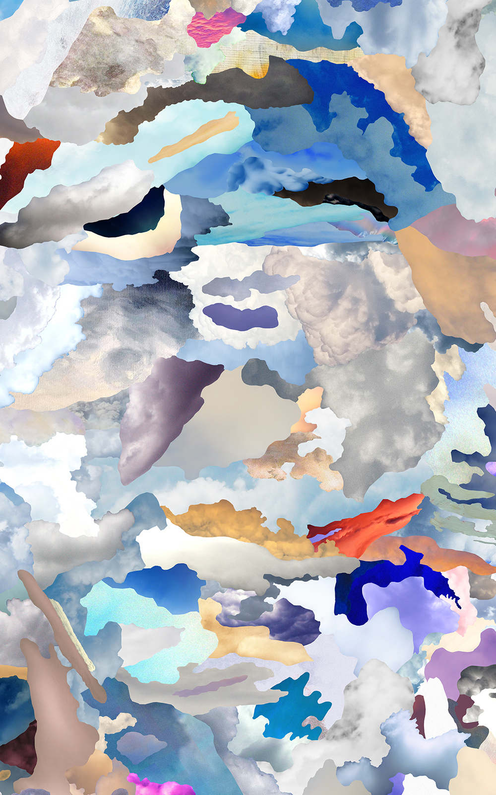 Case Simmons, Simmons & Burke, Horizontal Clouds, Cloud Collage, Pigment Print, Digital Collage, Digital Art, Photoshop Collage, Contemporary Collage, Case Simmons Art, Collage Fine Art, Abstract Digital Collage