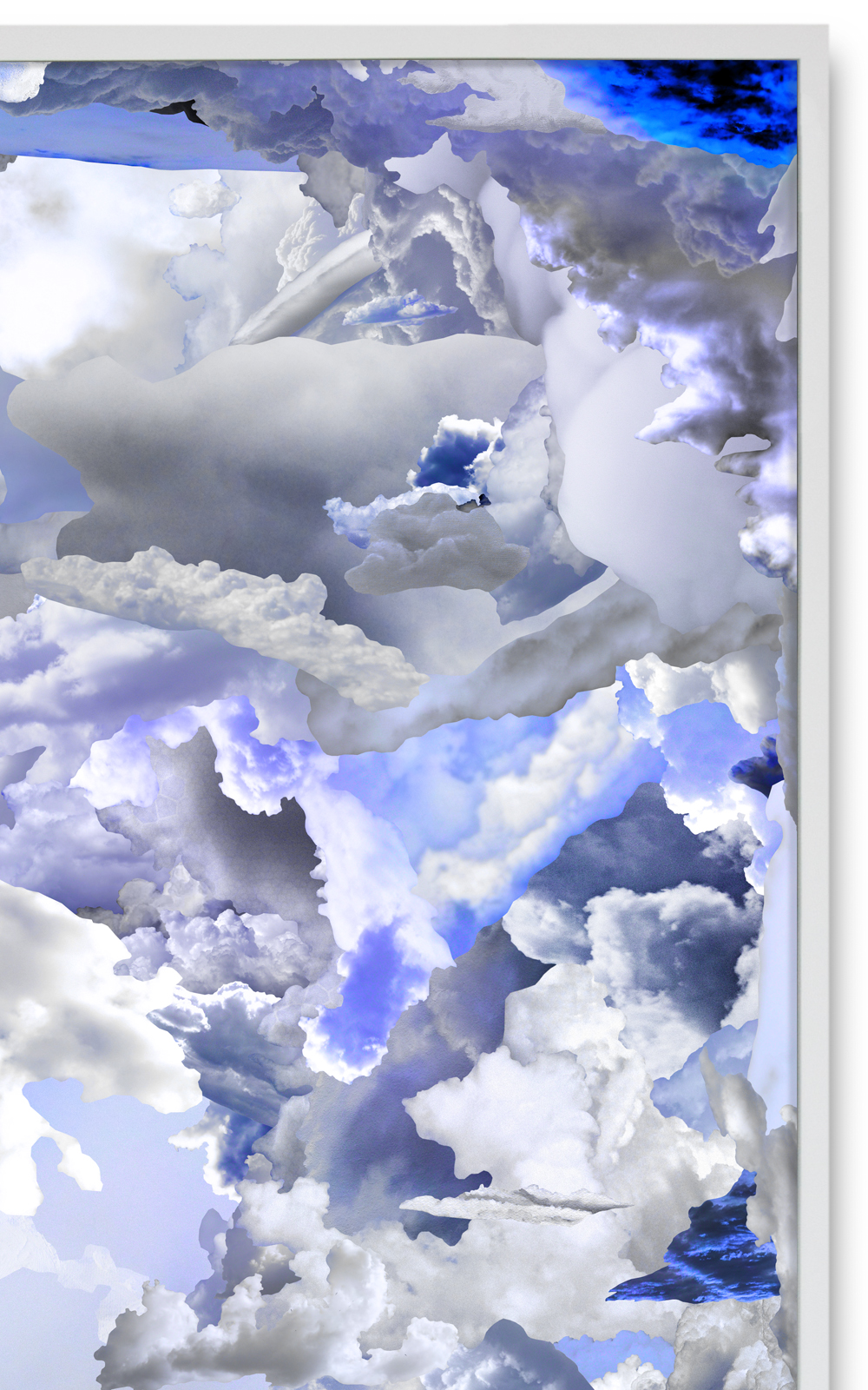 Case Simmons, Simmons & Burke, Blue Clouds B, Cloud Collage, Pigment Print, Digital Collage,Digital Art, Photoshop Collage, Contemporary Collage,Case Simmons Art, Collage Fine Art, Epson Metallic Print, Abstract Digital Collage,Kohn Gallery