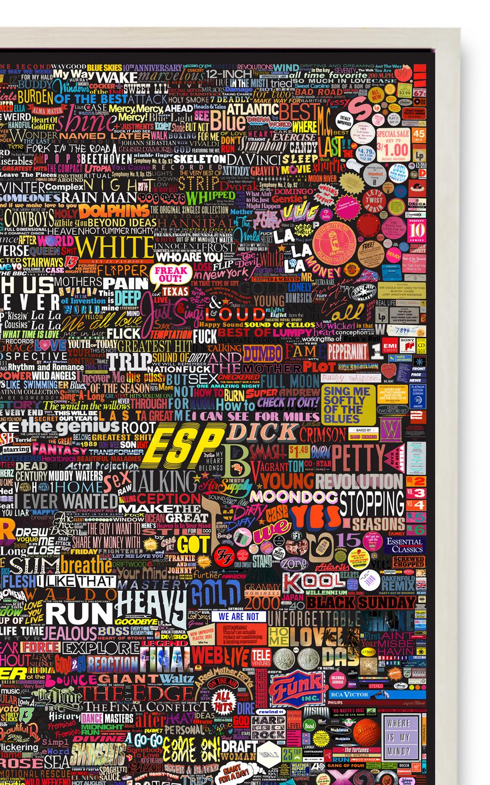 Case Simmons, Simmons & Burke, Album Collection Palette Black, Album Art, Record Cover Collection,C-Print, Digital Collage,Digital Art, Photoshop Collage, Contemporary Collage,Case Simmons Art, Collage Fine Art, Kohn Gallery, Collection Art, Archive Art