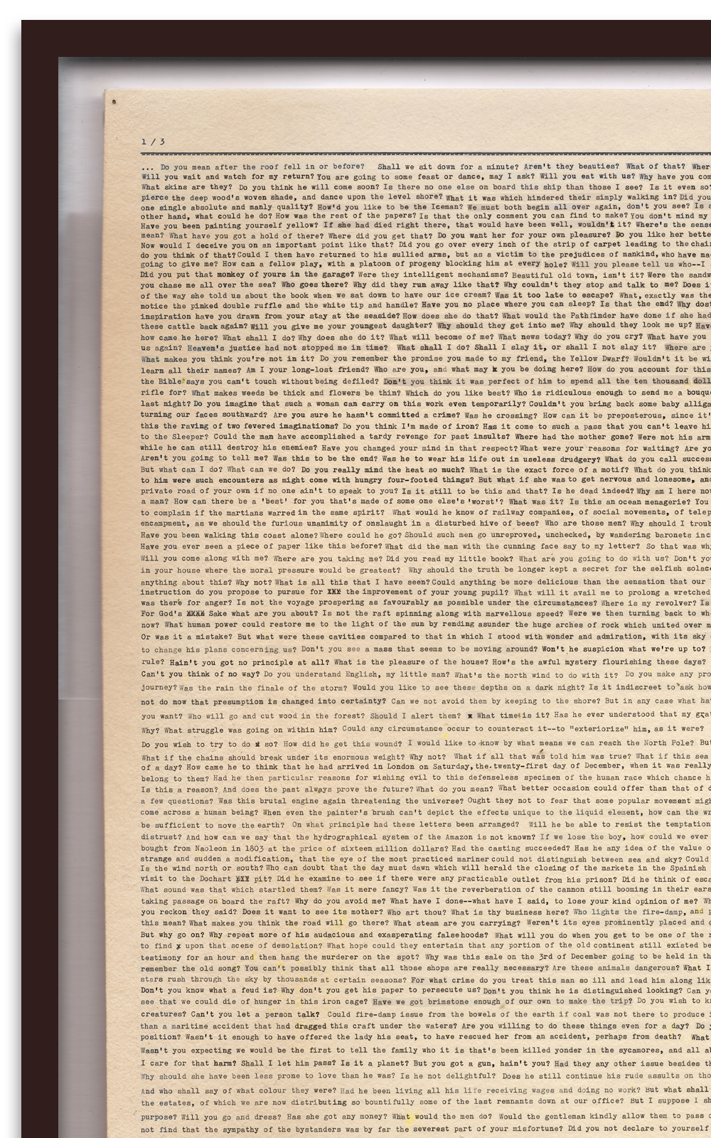 Case Simmons, Simmons & Burke, Score Collage Poem #1, SMMoA, Santa Monica Museum of Art,Digital Collage,Digital Art, Case Simmons Art, Text Art, Font Art, Typewriter Art, Photoshop Collage, Livrivox, Fiction Art, Internet Archive
