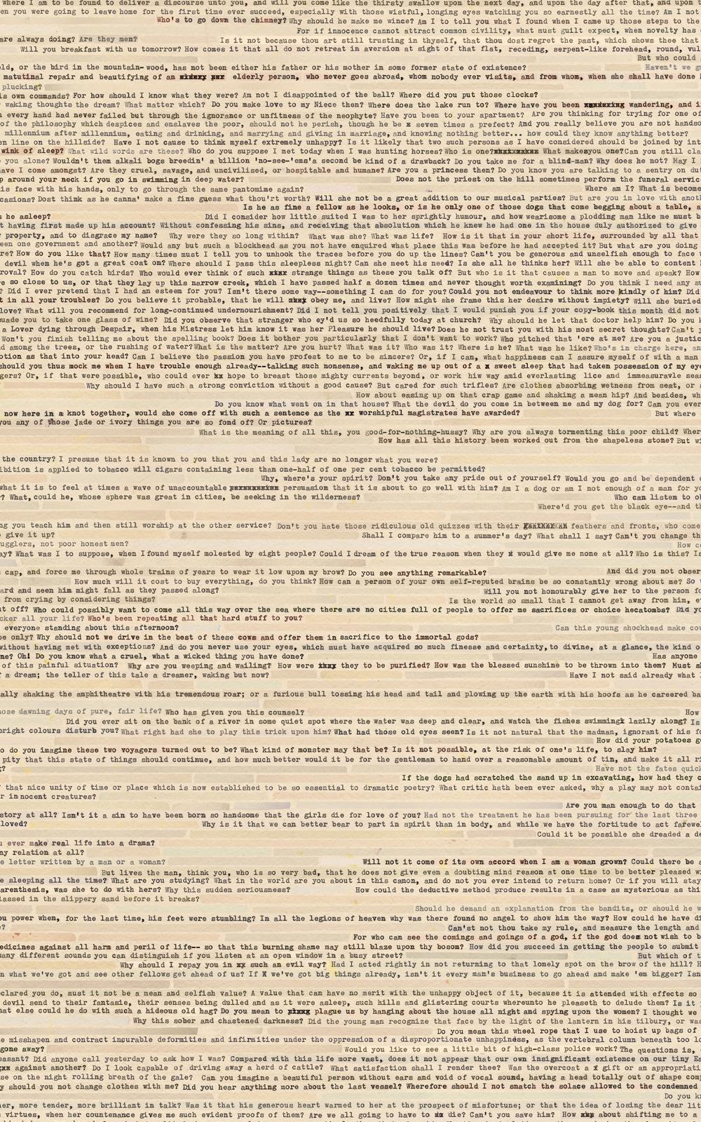 Case Simmons, Simmons & Burke, Score Collage Poem #2, SMMoA, Santa Monica Museum of Art,Digital Collage,Digital Art, Case Simmons Art, Text Art, Font Art, Typewriter Art, Photoshop Collage, Livrivox, Fiction Art, Internet Archive