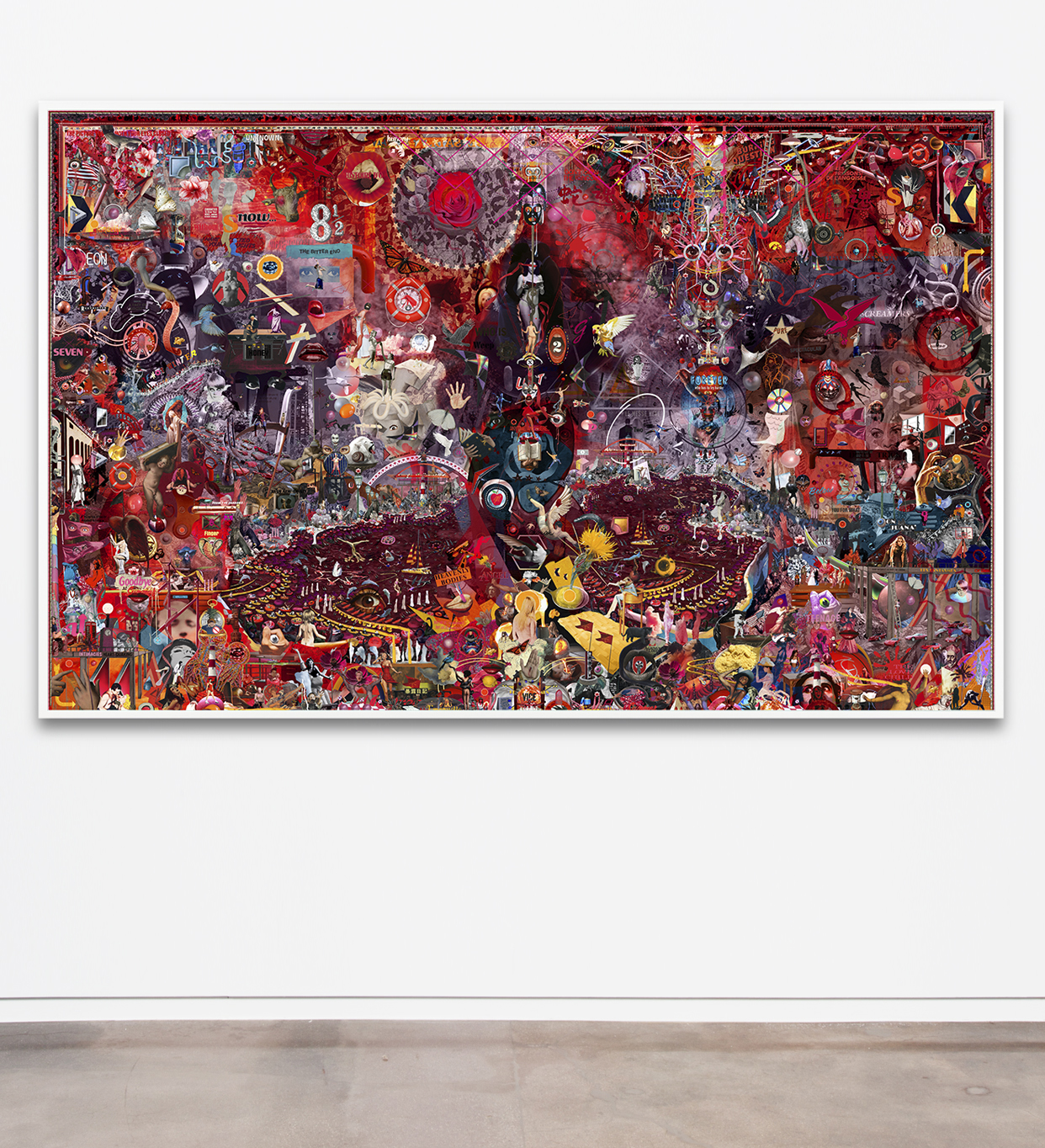 Case Simmons, Simmons & Burke, If Not Summer #1, Kohn Gallery, Hieronymus Bosch, Lightjet Print, Digital Collage,Digital Art, Photoshop Collage, Contemporary Collage,Case Simmons Art, Case Simmons Artist, Collage Fine Art, Hyper Collage, Future Collage