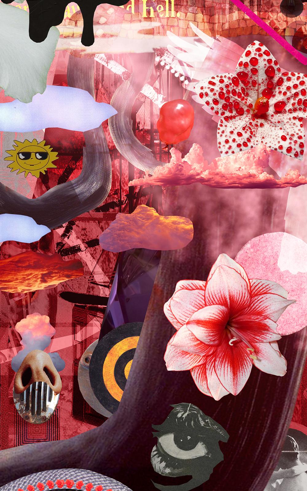 Case Simmons, Simmons & Burke, If Not Summer #3, Kohn Gallery, Hieronymus Bosch, Lightjet Print, Digital Collage,Digital Art, Photoshop Collage, Contemporary Collage,Case Simmons Art, Case Simmons Artist, Collage Fine Art, Hyper Collage, Future Collage,Digital Landscape