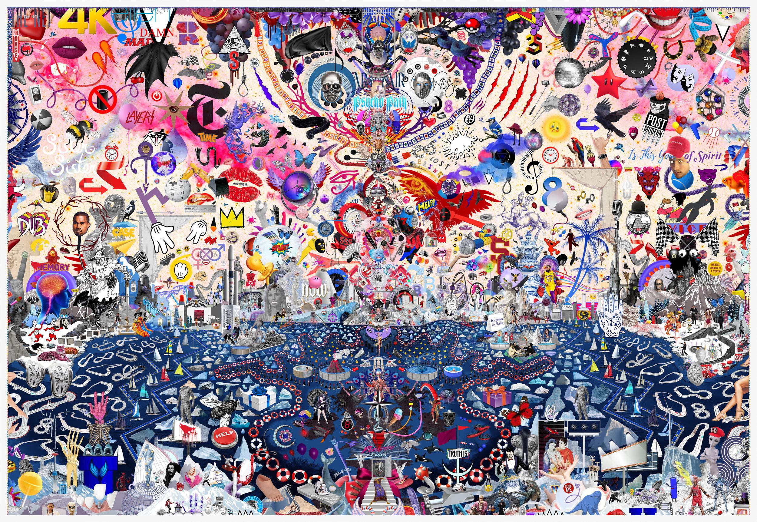 Case Simmons, The Great Landscape Suite (color), Pigment Print, Digital Collage, Digital Art, Photoshop Collage, Contemporary Collage, Photoshop Actions
