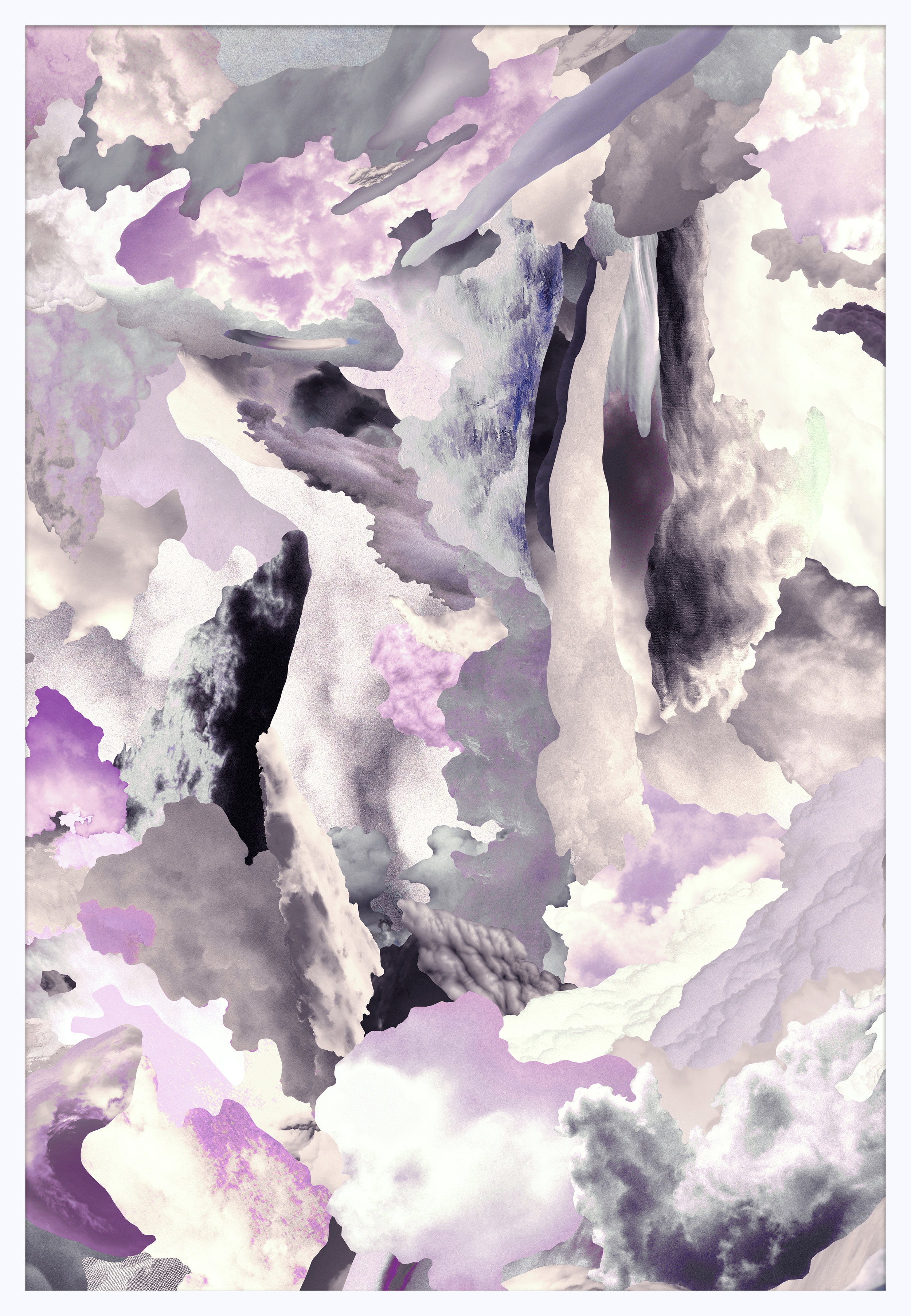 Case Simmons, Clouds V, Pigment Print, Digital Collage, Digital Art, Photoshop Collage, Contemporary Collage, M+B Gallery, Los Angeles