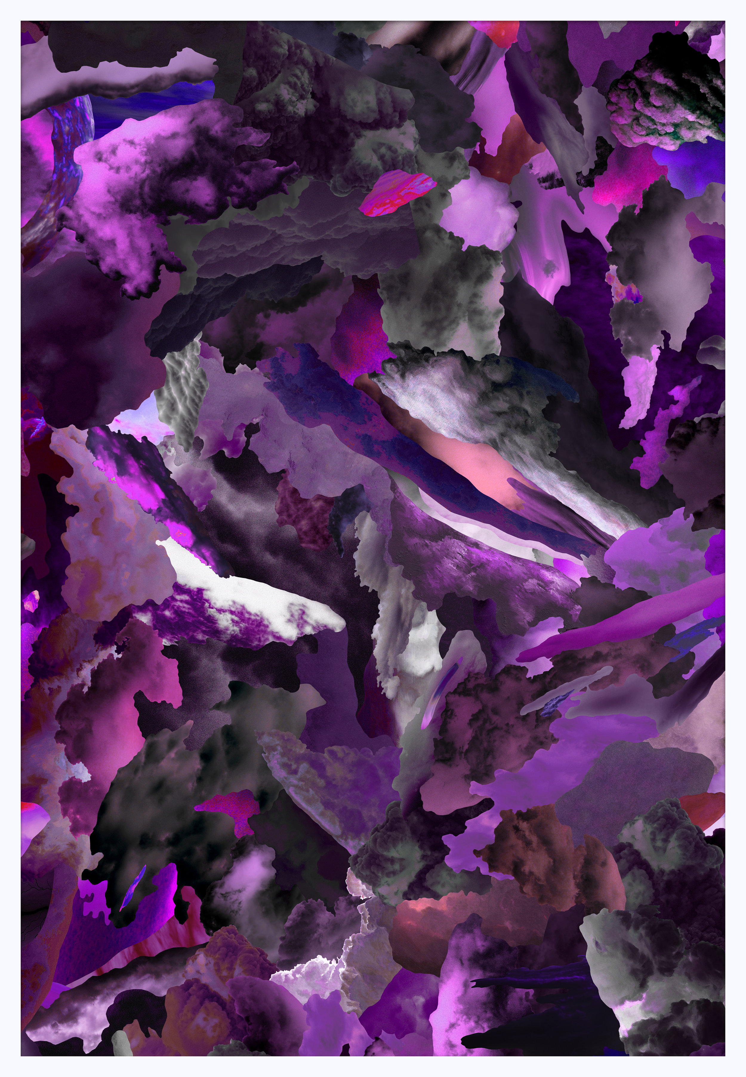 Case Simmons, Clouds W, Pigment Print, Digital Collage, Digital Art, Photoshop Collage, Contemporary Collage, M+B Gallery, Los Angeles