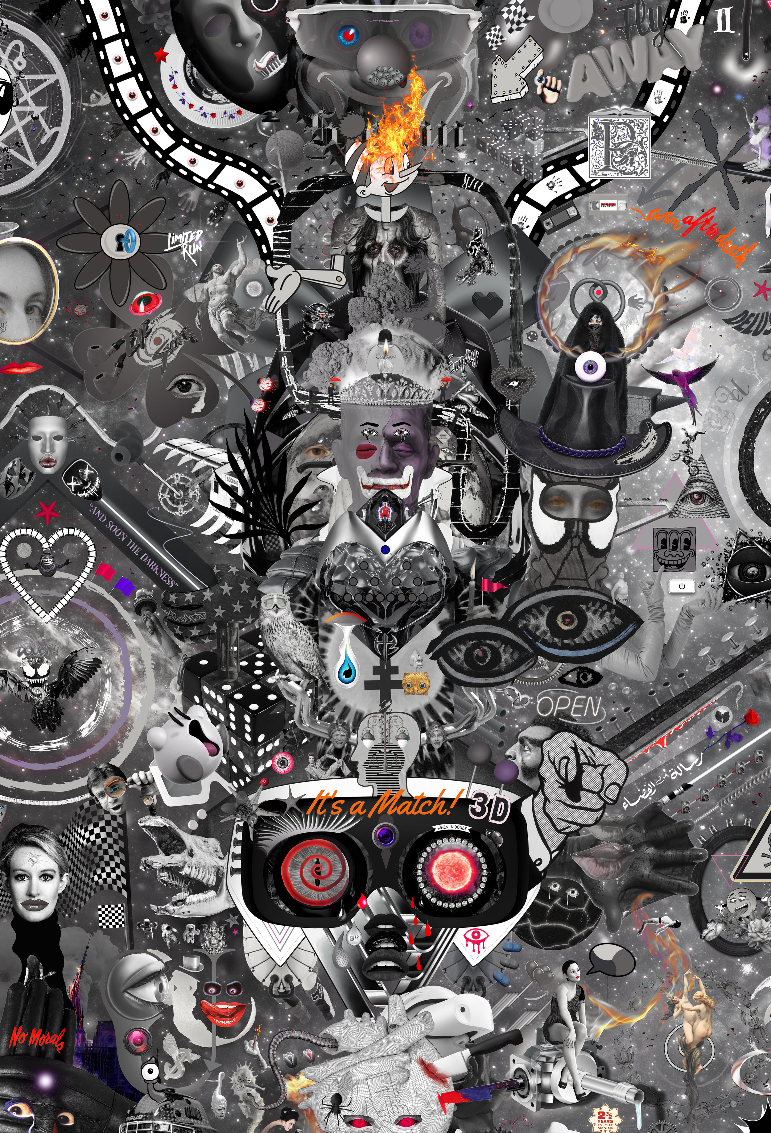 Case Simmons, Temple 10, Pigment Print, Digital Collage, Digital Art, Photoshop Collage, Contemporary Collage, M+B Gallery, Los Angeles, Art, Fine Art
