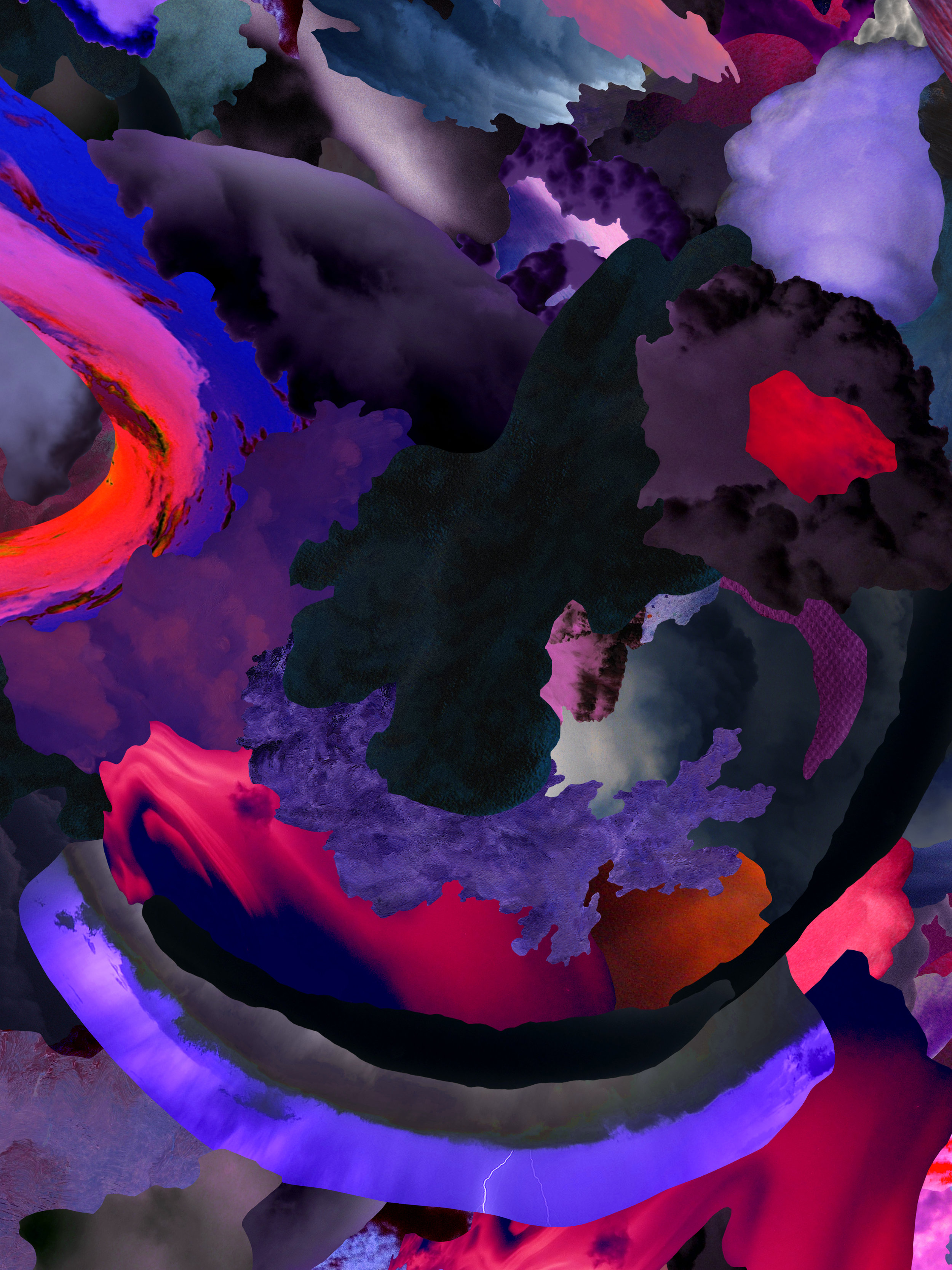 Case Simmons, Clouds Z, Pigment Print, Digital Collage, Digital Art, Photoshop Collage, Contemporary Collage, M+B Gallery, Los Angeles, Art, Fine Art