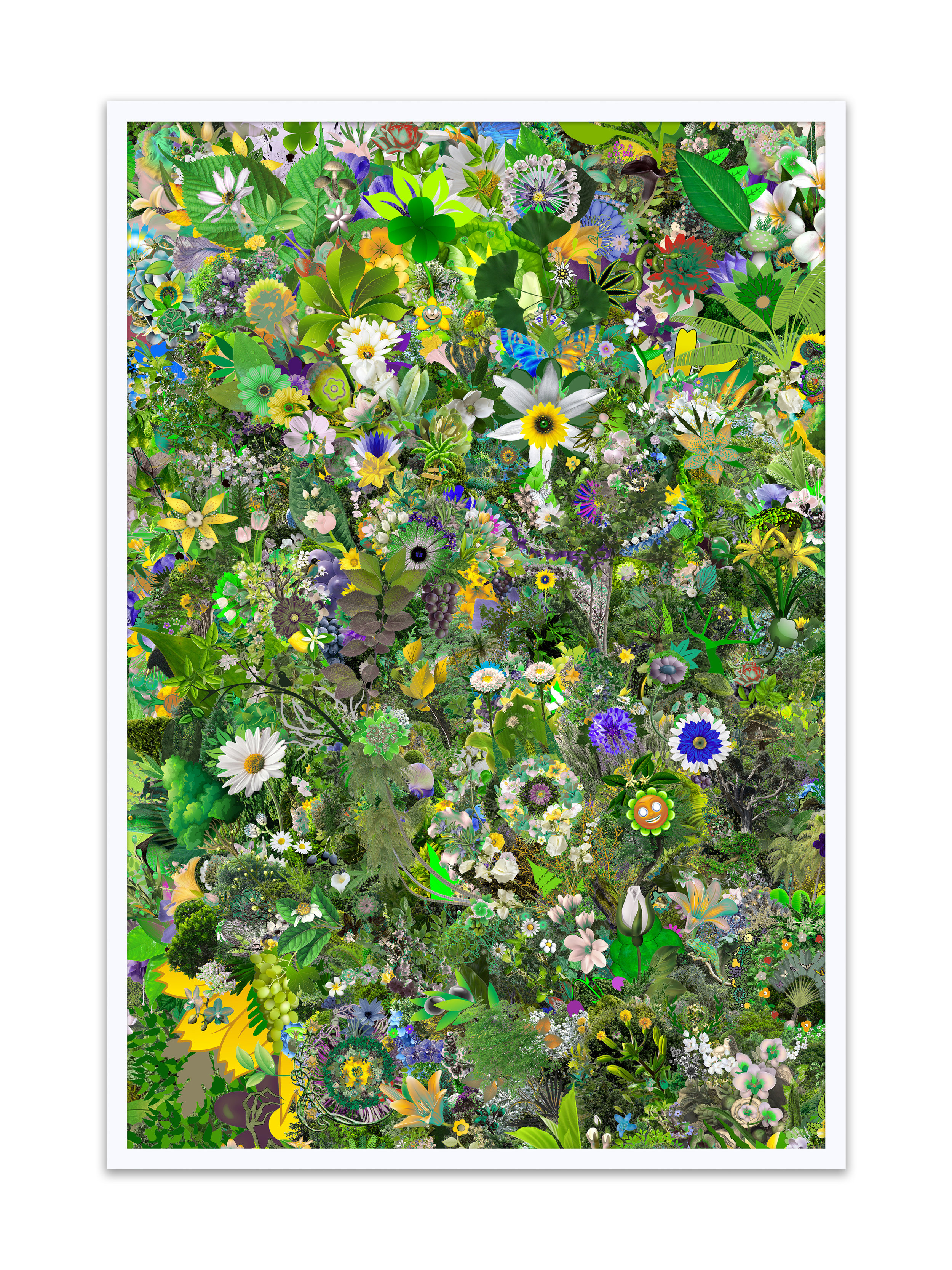 Case Simmons, Trees Y, Pigment Print, Digital Collage, Digital Art, Photoshop Collage, Contemporary Collage, M+B Gallery, Los Angeles, Art, Fine Art