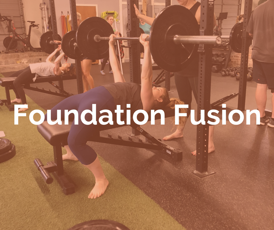 If you are new to working out, or looking to brush up on your technique, Foundation Fusion is the perfect place for you. This class follows the same programming as Circuit Fusion, with a focus on breaking down the most advanced exercises. Everyone will benefit from this opportunity to refine their movement while challenging the entire body with kettlebells, suspension training, barbells, dumbbells, maces, and bodyweight.