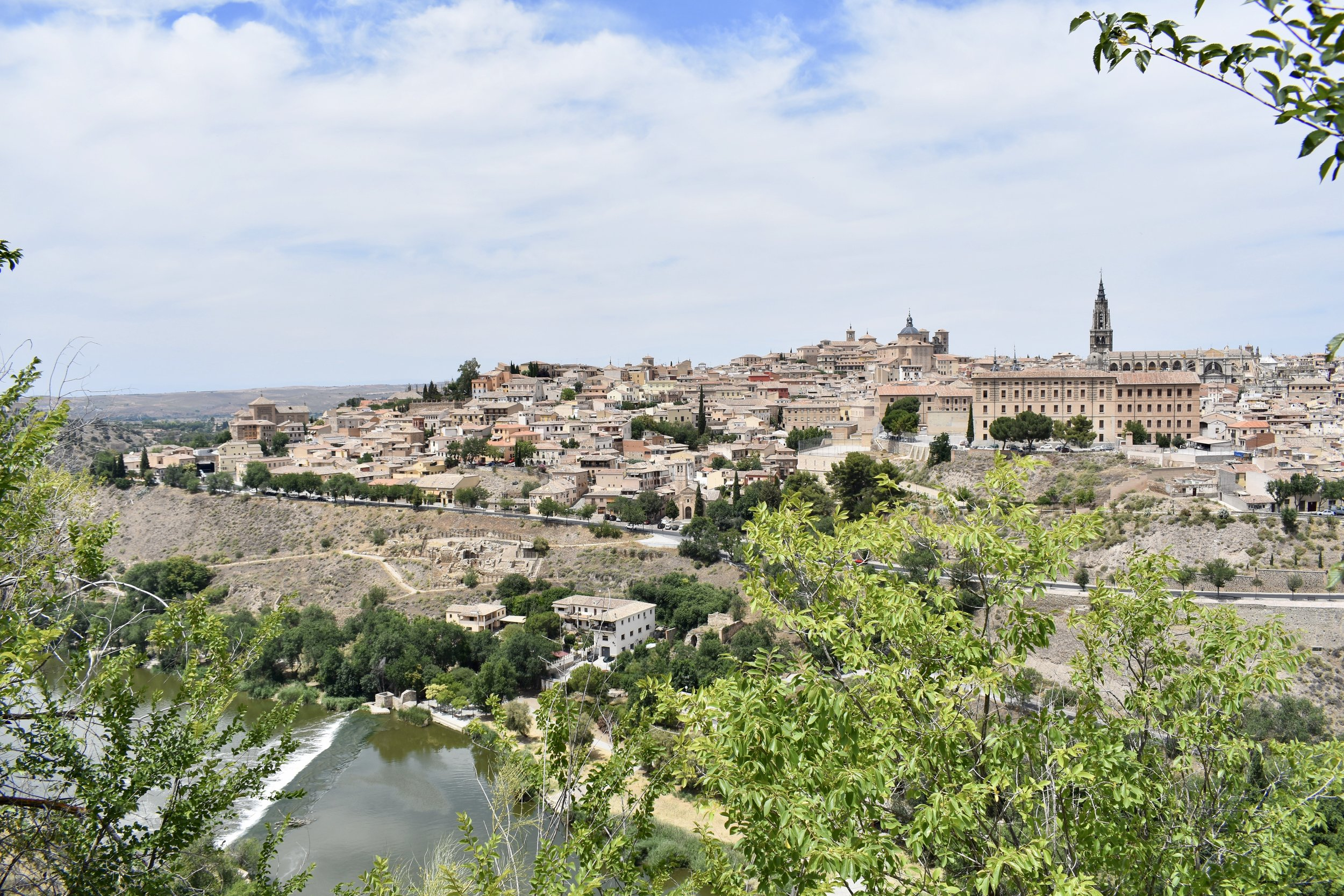 Fellows enjoy a beautiful view of El Casco of Toledo from the Mirador del Valle lookout, just an hour from Madrid.