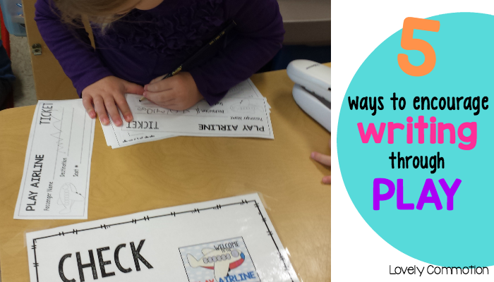 How to encourage children to write through play based learning.