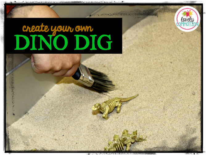 Create your own dino dig in preschool!