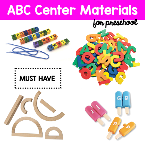 Alphabet center preschool