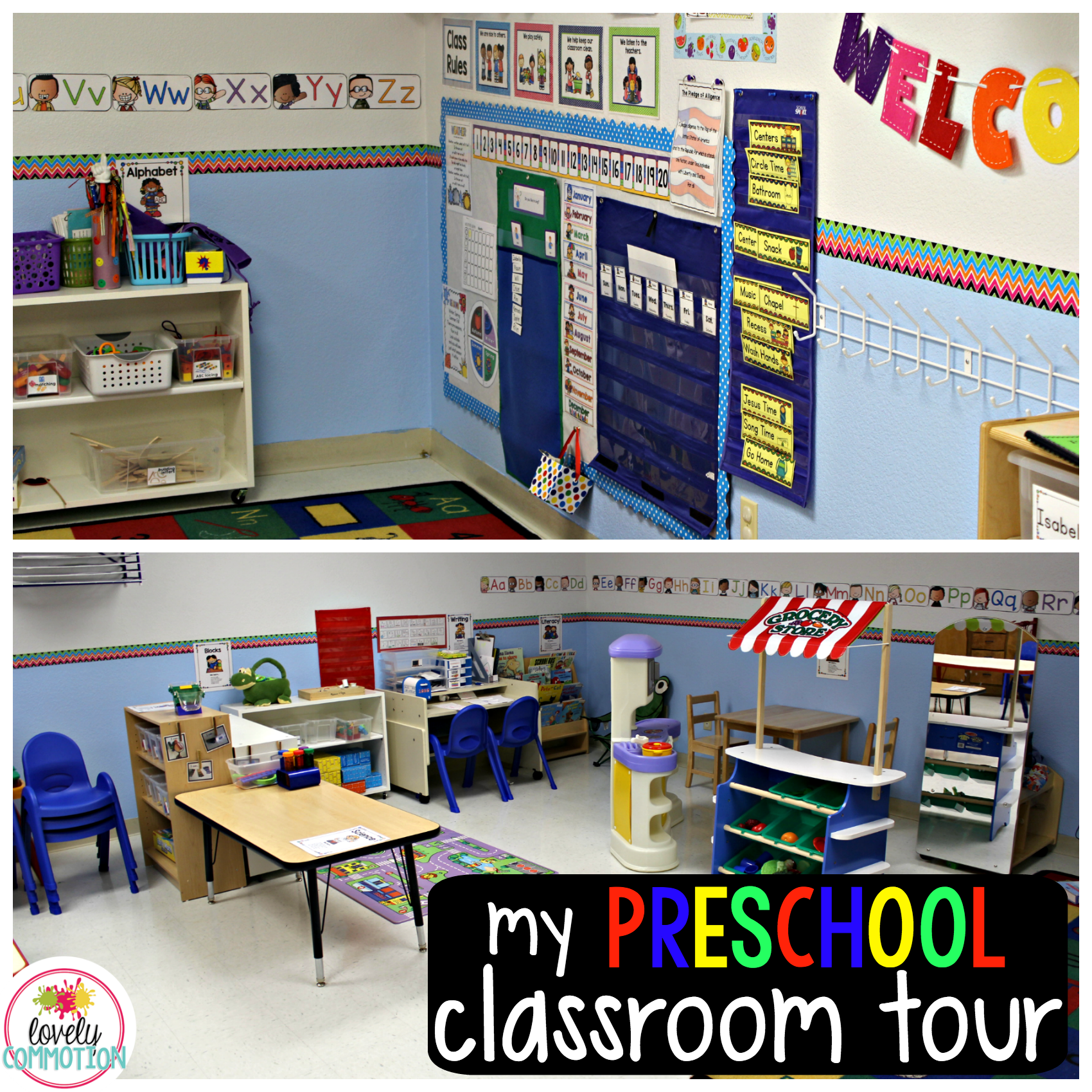 See the inside of my preschool classroom!