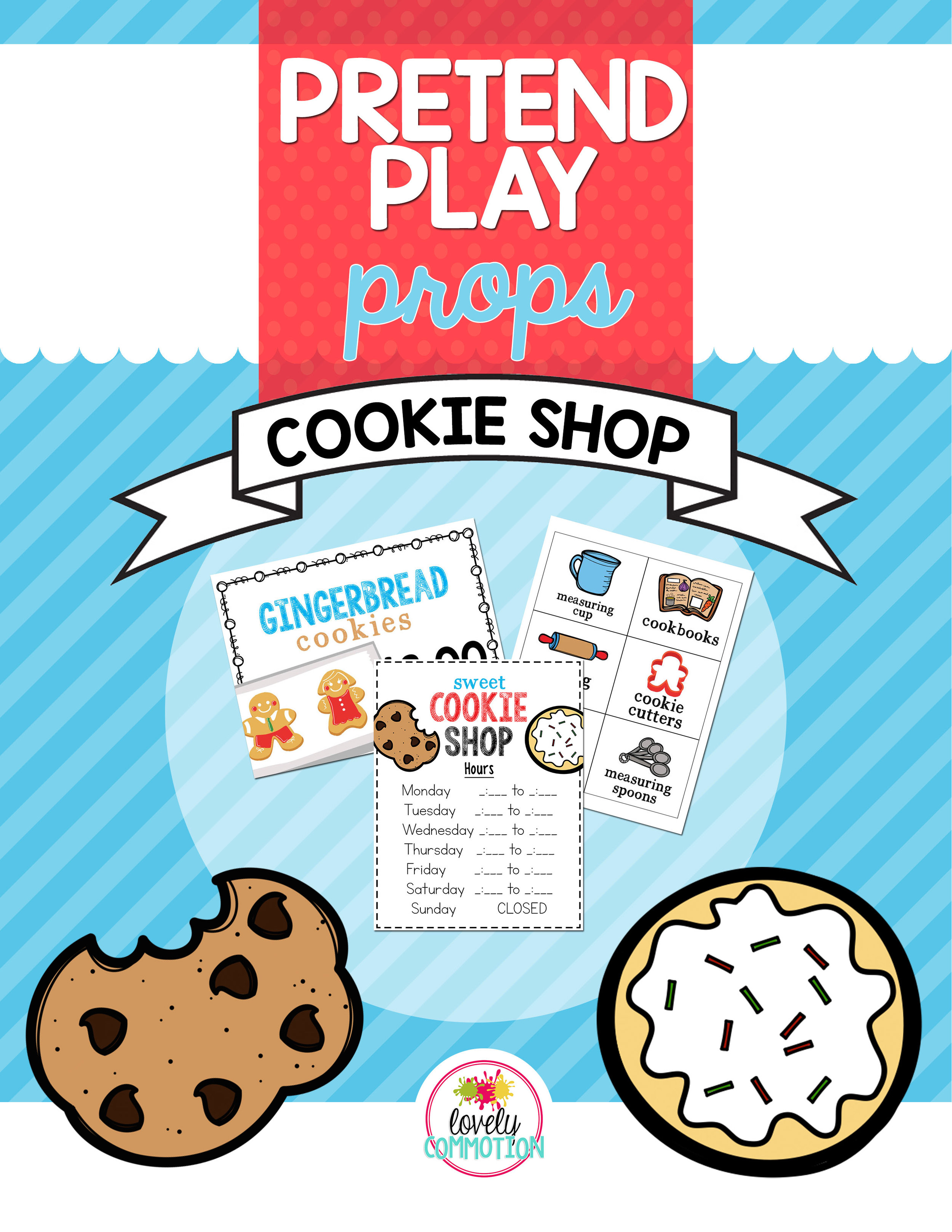 Pretend Play Cookie Shop