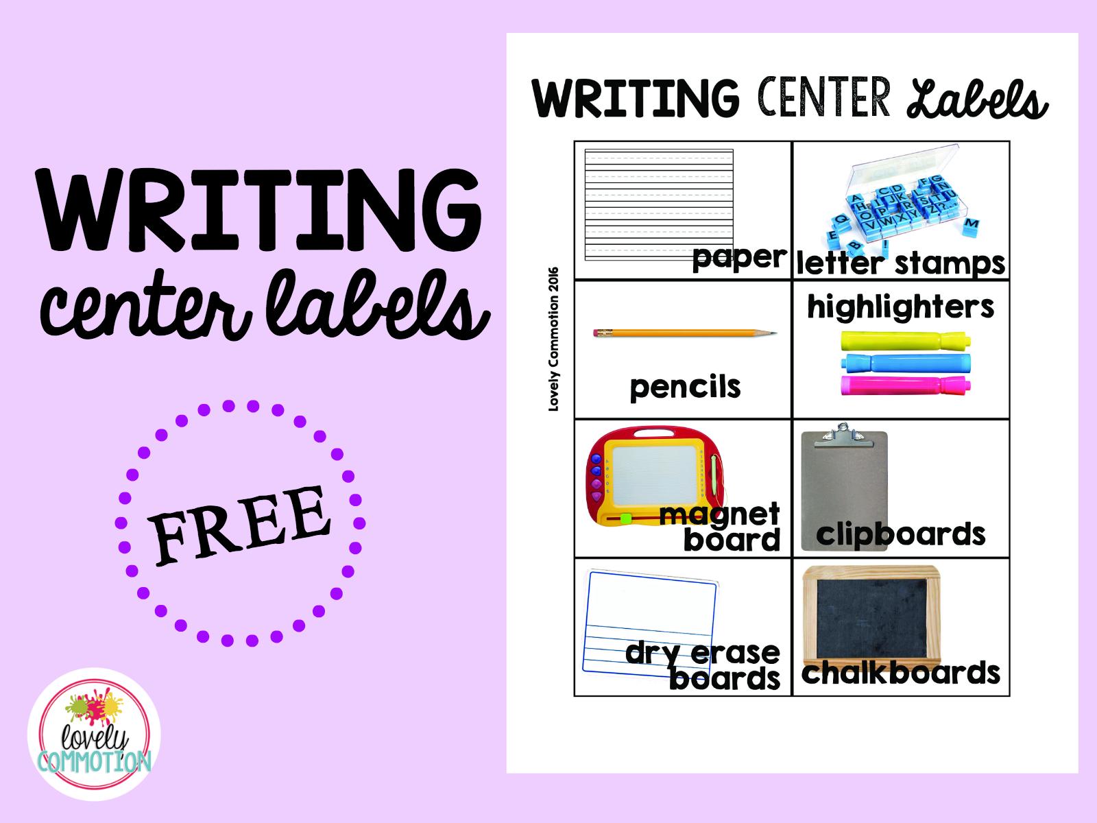 Writing Center Preschool
