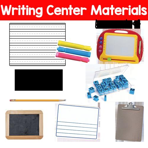 Writing Center in Preschool