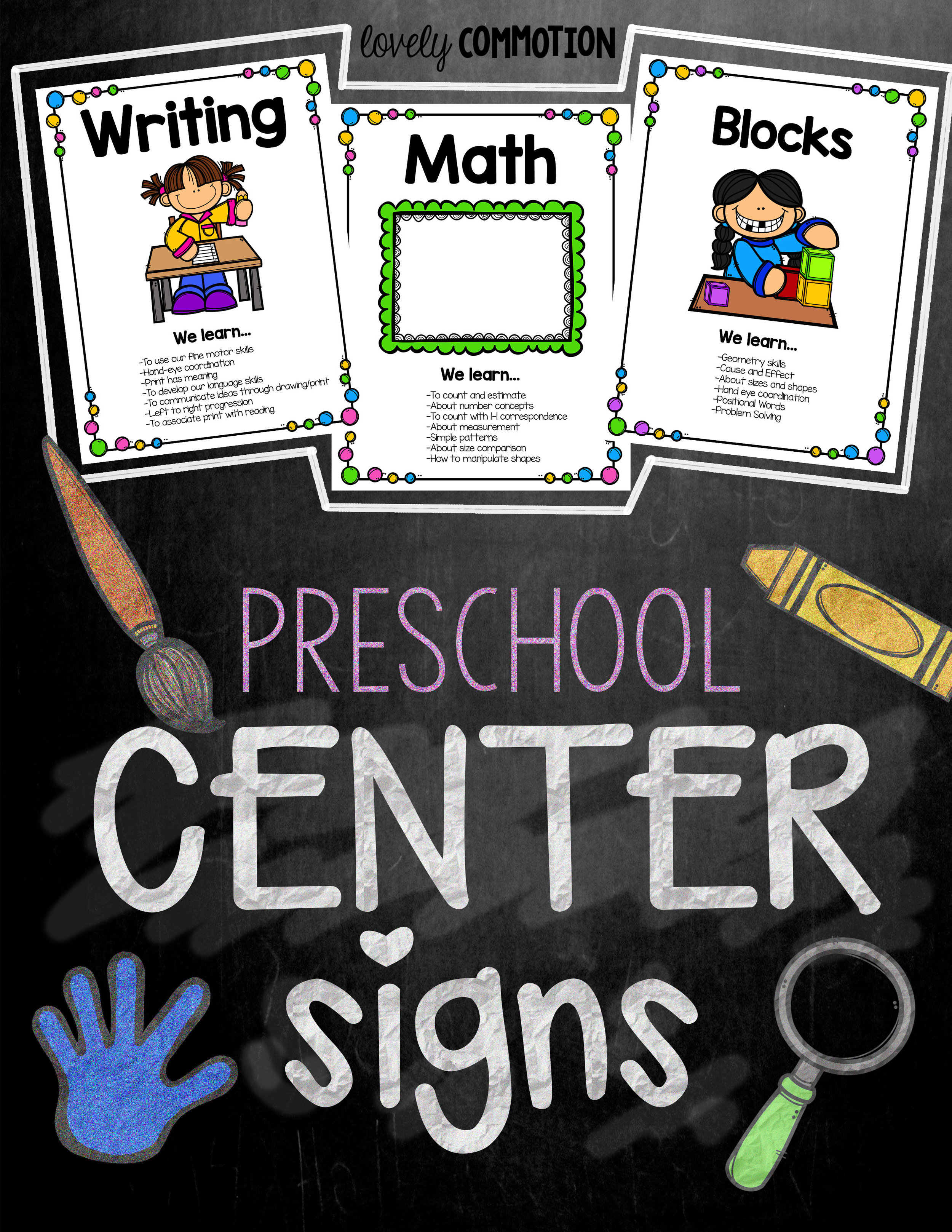 Play Based Preschool Center Signs