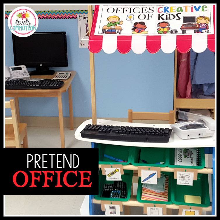 Pretend Play Office for Dramatic Play Center Pre-k