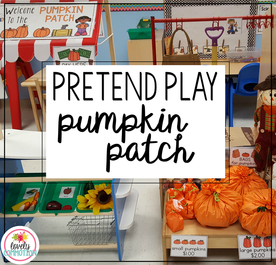 Pretend Play Pumpkin Patch- bring the patch into your preschool classroom easily with these printables!