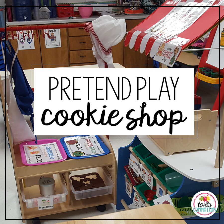 Pretend Play Cookie Shop perfect for pretend baking during the Holidays!