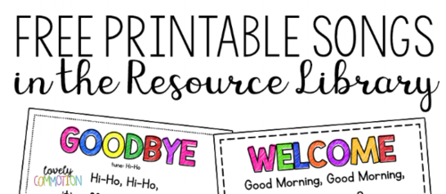 Preschool Circle Time Songs 2