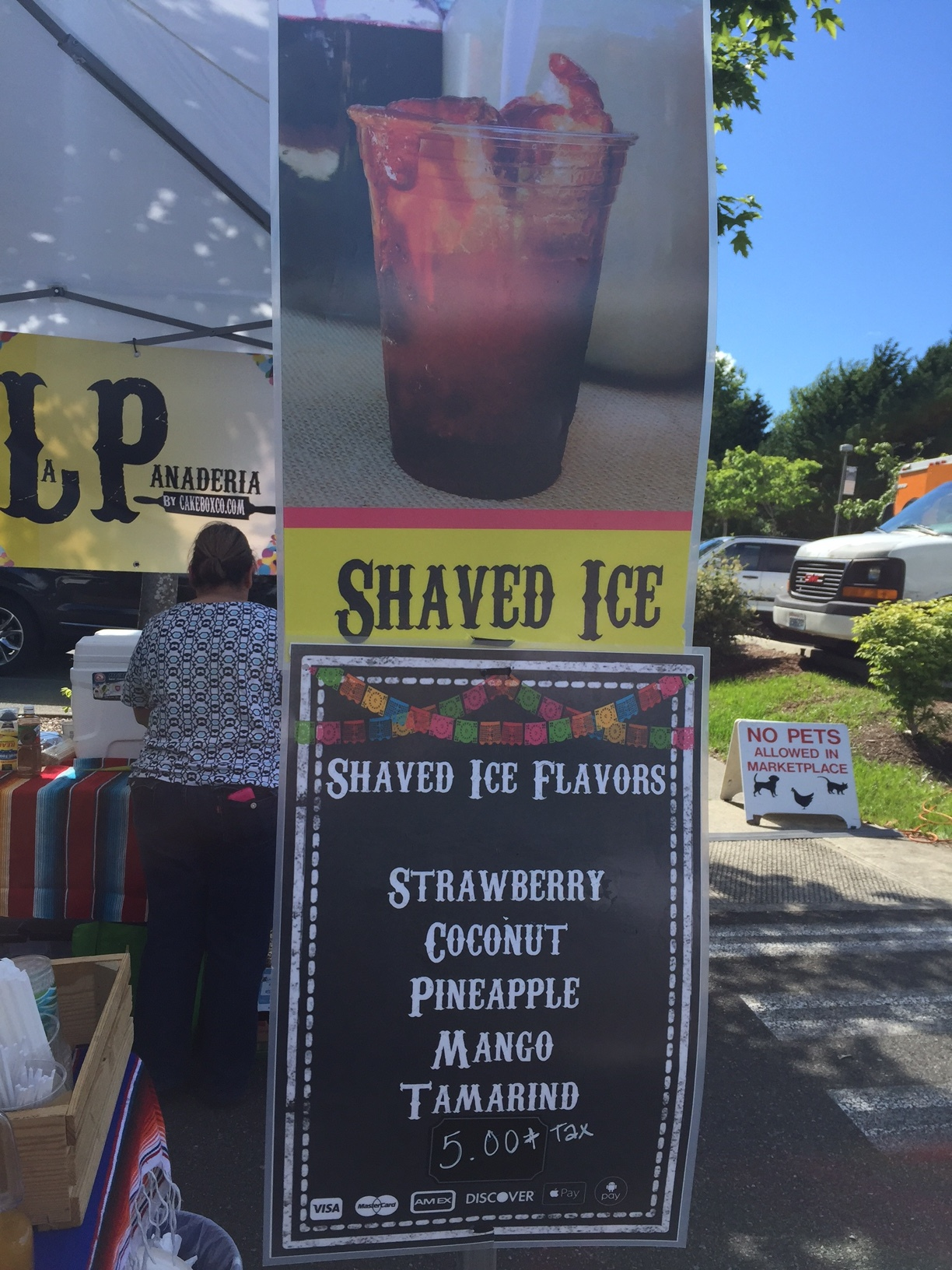 I'd put the ice consistence as in between shaved ice and a snow cone