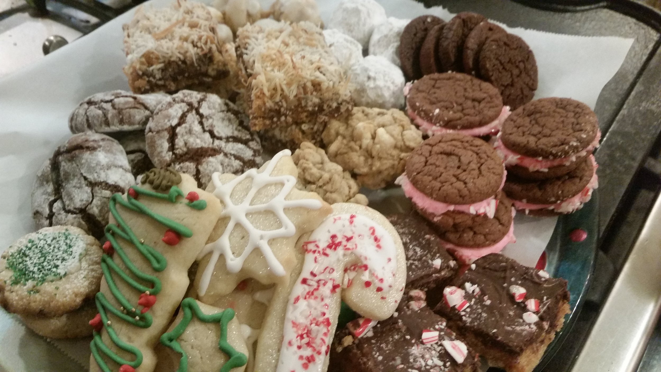 This year's book club cookie exchange haul