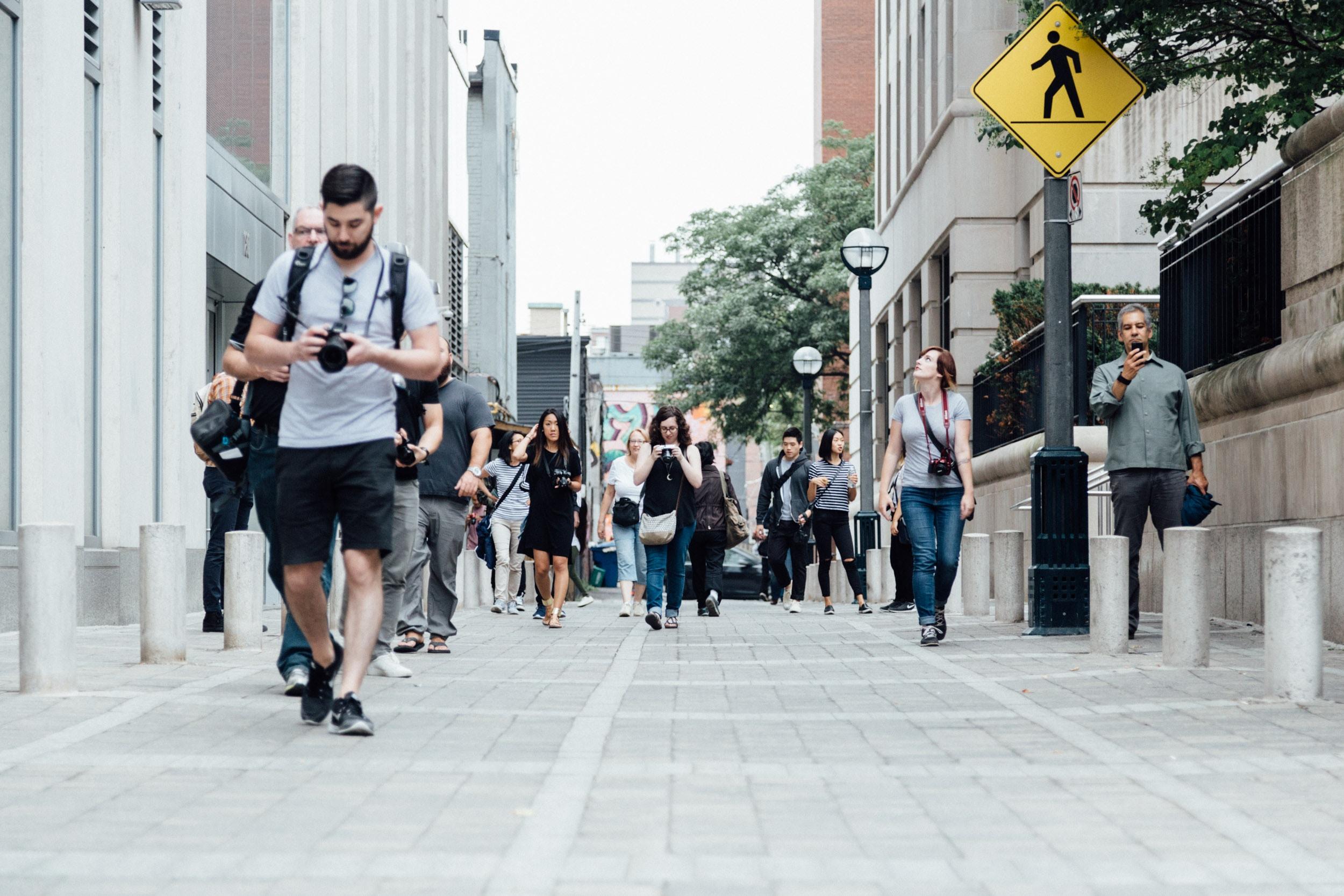Even better when you walk, make eye contact. [Photo by  Matt Quinn on  Unsplash ]