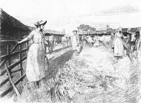 Tess at Talbothays, from the 1891 edition