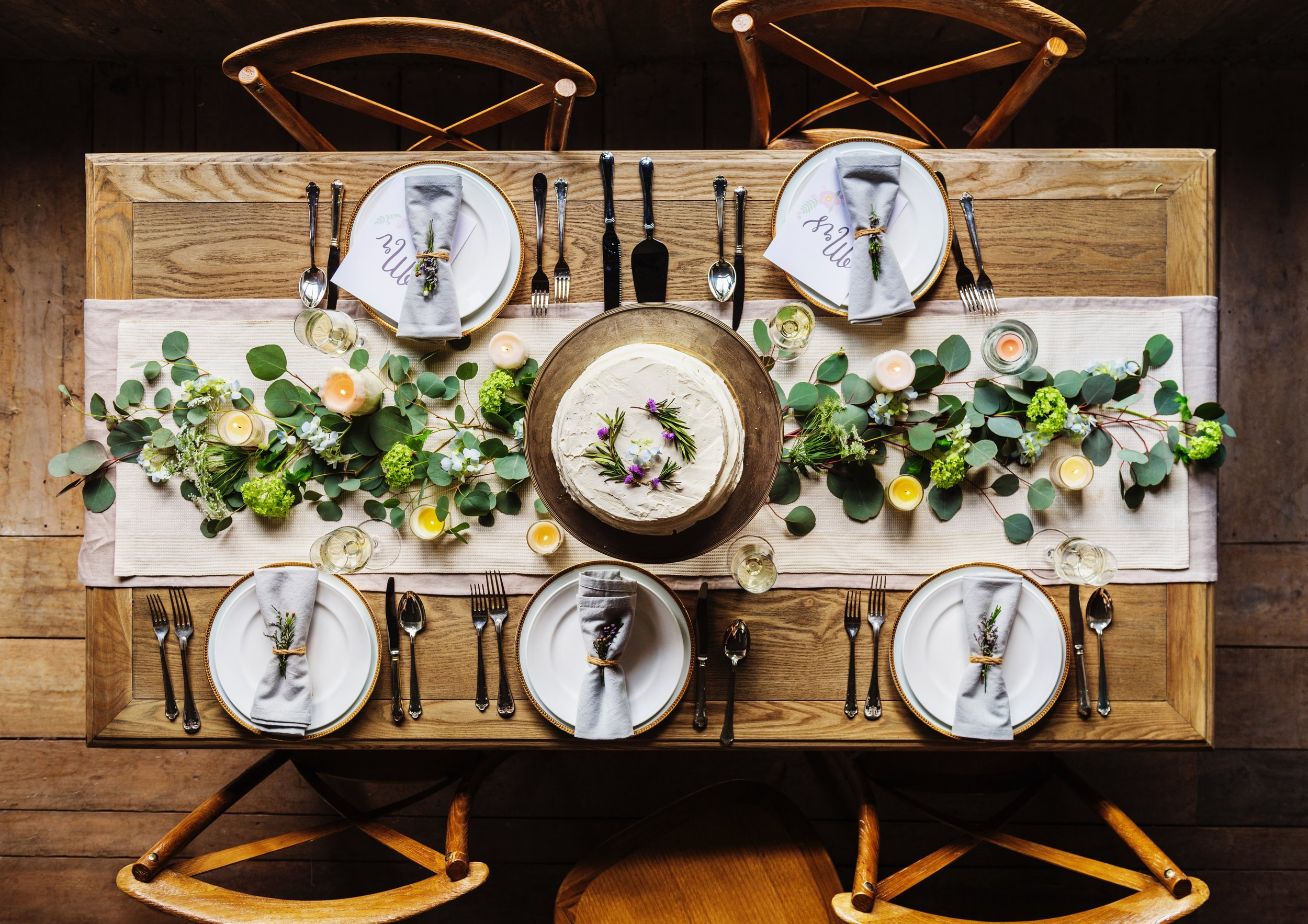 What the table might look like, if you have decorating genius, which I don't. [Photo by  rawpixel  on  Unsplash  ]