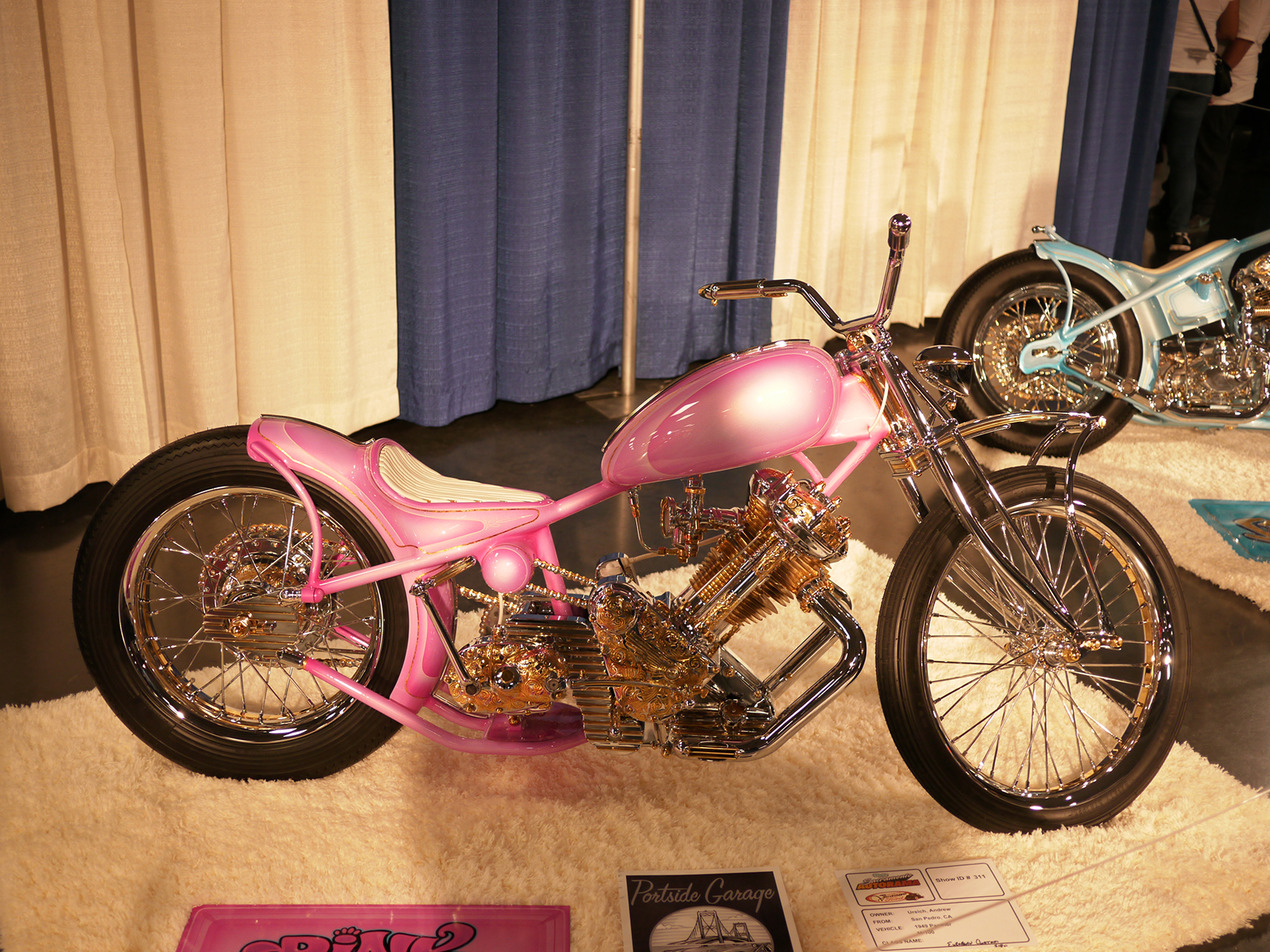 Clearly the world's champion custom Panther M-100. Is it ever ridden? One wonders. Mathew Ursich Is the proud owner.