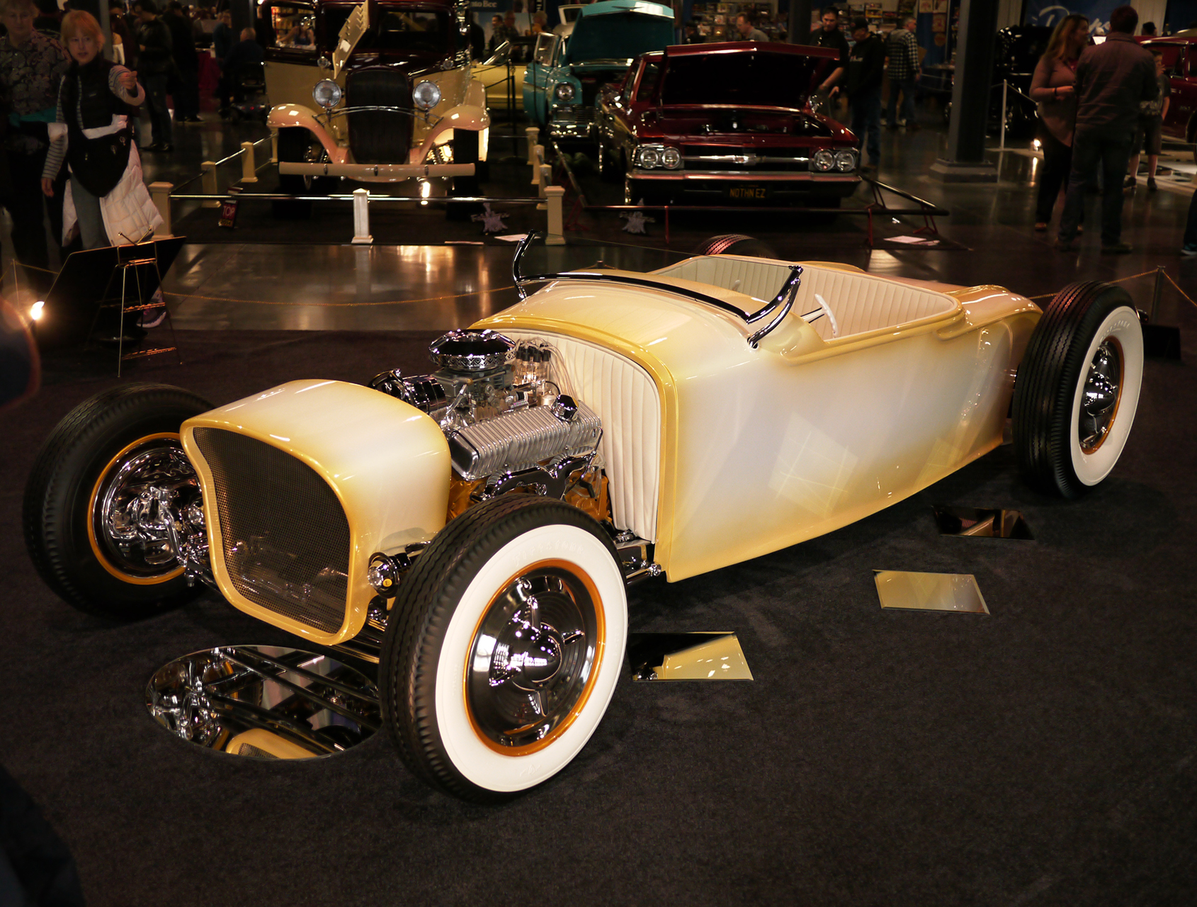 The fabulous Fools Goldster. Matt Taylor's '27 Dodge roadster. Small boys and grown men were seen gazing at it with mouths agape.
