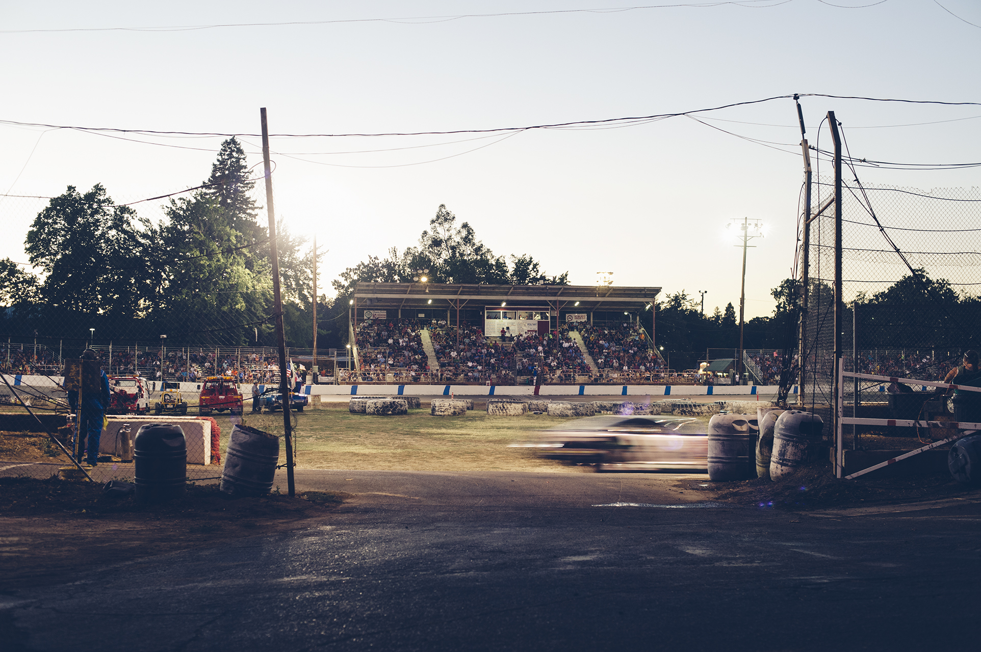 Lakeport Speedway, racing since 1948.
