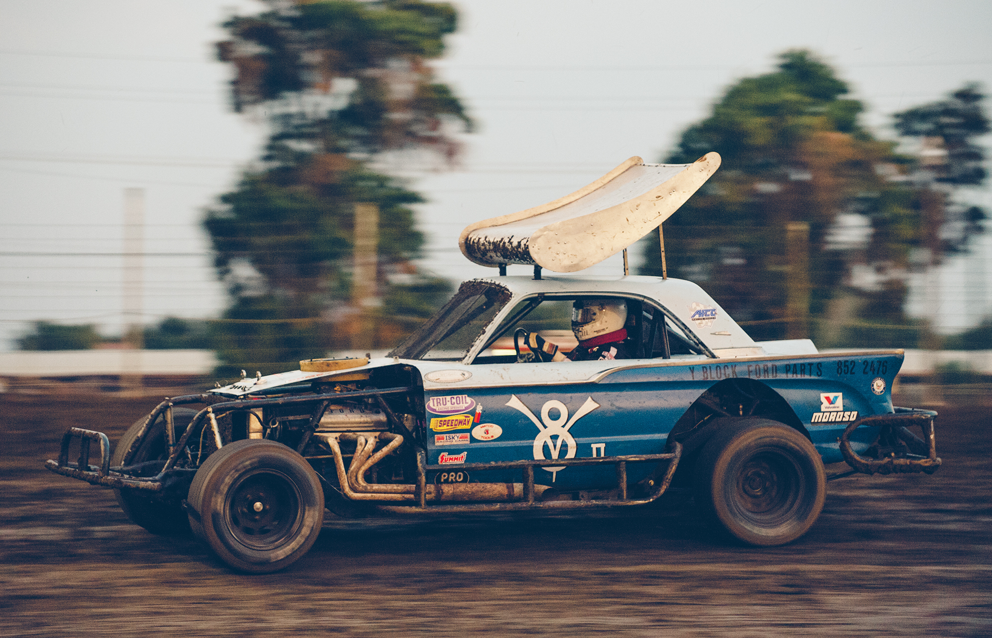 """""""It's not your grandma's Mercury,"""" Merced track champ Mike Henault says of his Valley Sportsman Comet."""