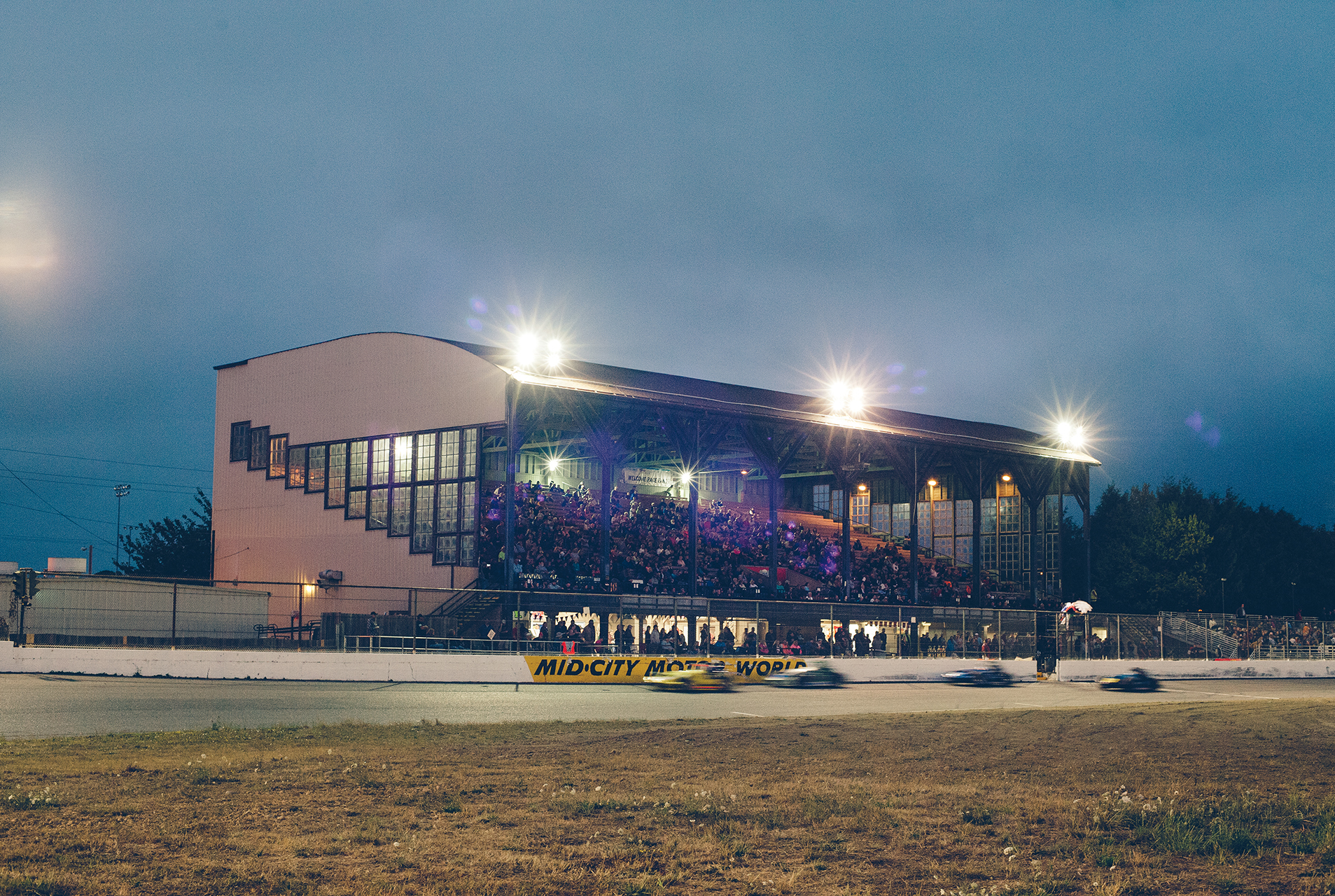 Eureka's main grandstand has been a part of the action since 1947.