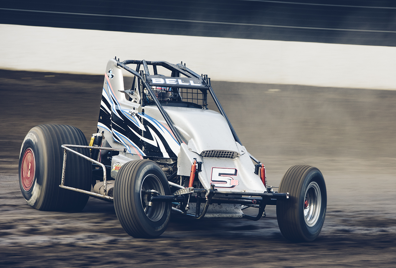 Angelique Bell at Calistoga Speedway, 2015. The landmark half-mile dirt track is one of her favorites.