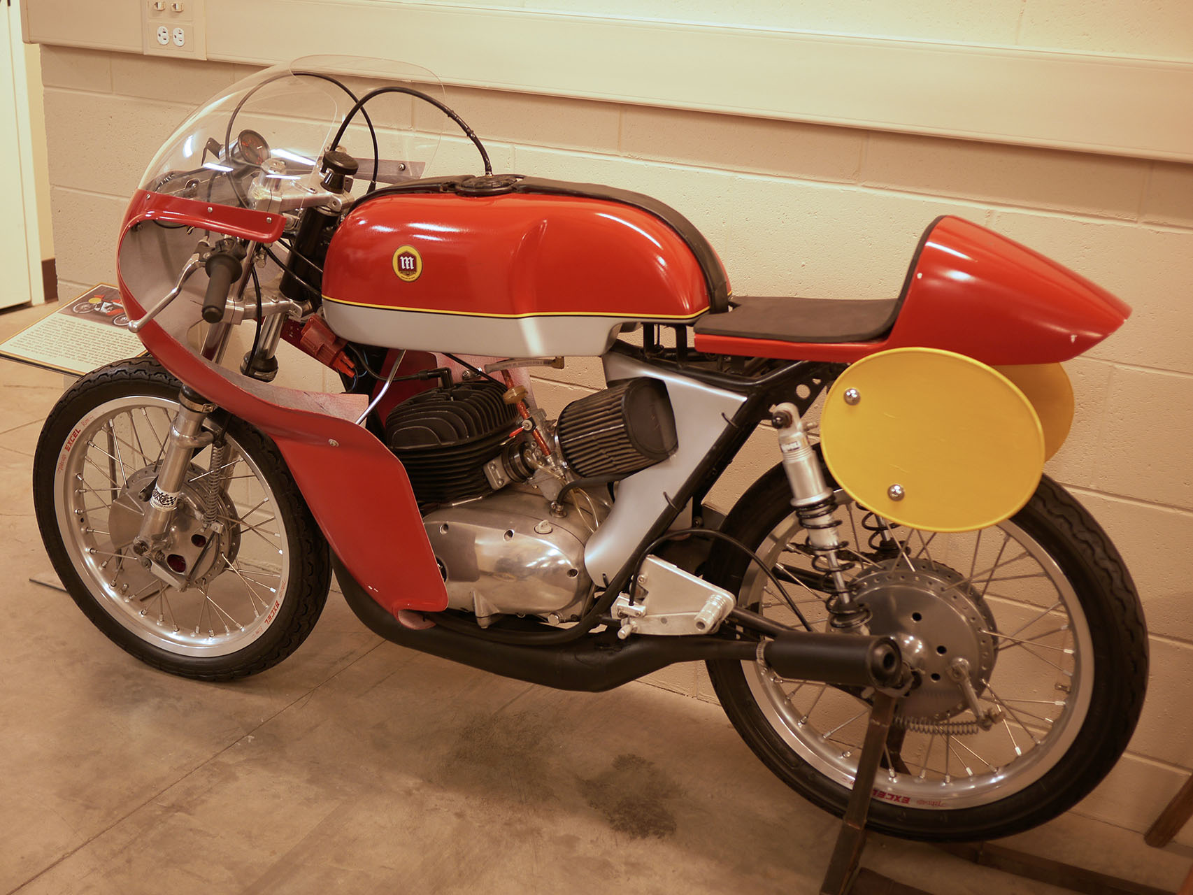 Fantastic Montessa racer. Two stroke Spanish royalty. Made to tear through Montjuic Park at high speed.