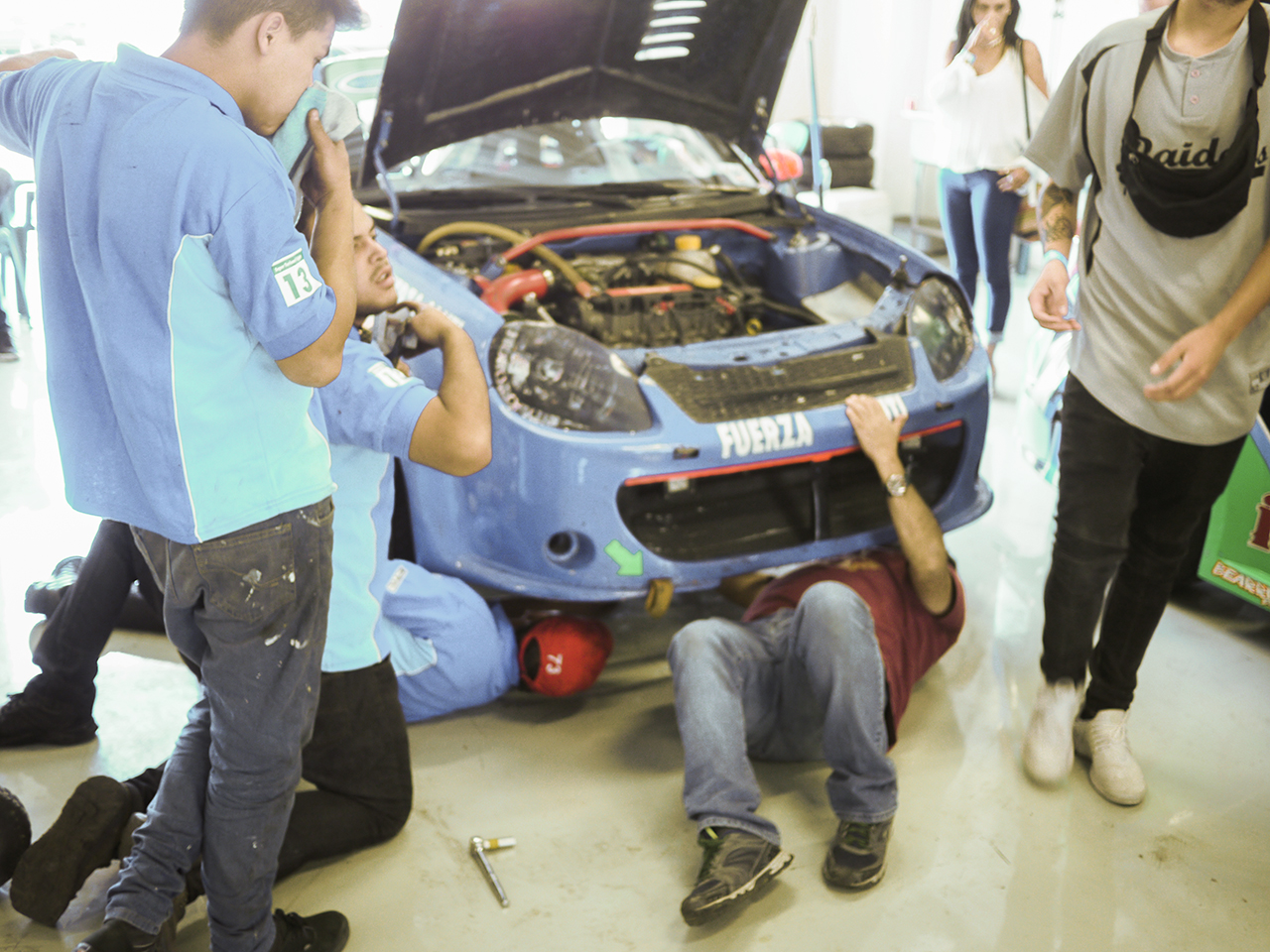 The mechanics trace down the source of a heavy shudder in the driveline.