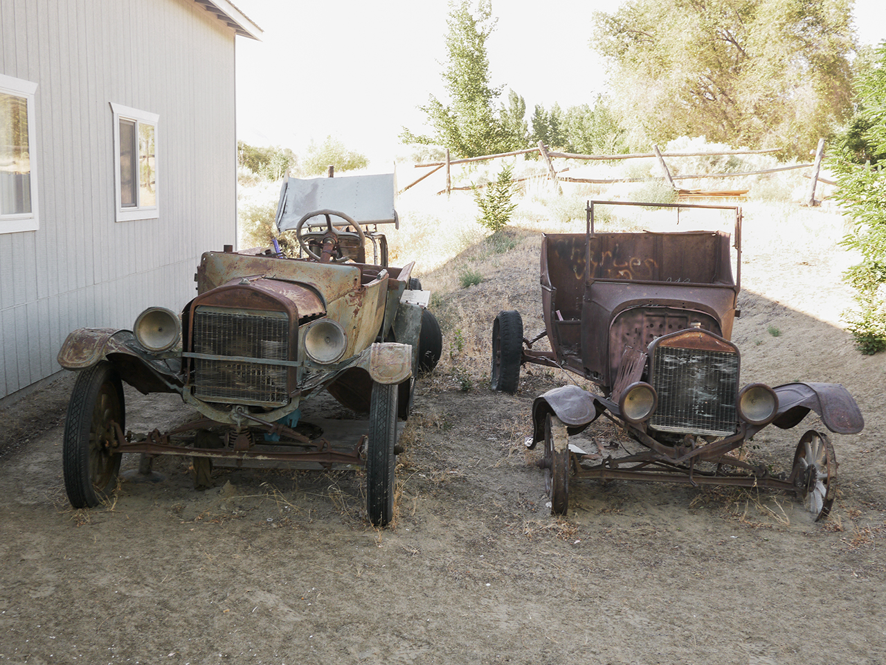 A little of this and that out back of Jerry Foreman's shop.