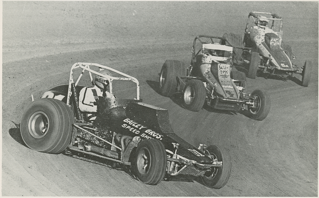 Driving the Bailey Brothers 01, Van Conett leads Pat Hughes and Ron Simmons at Santa Maria in 1978. (John Monhoff photo)
