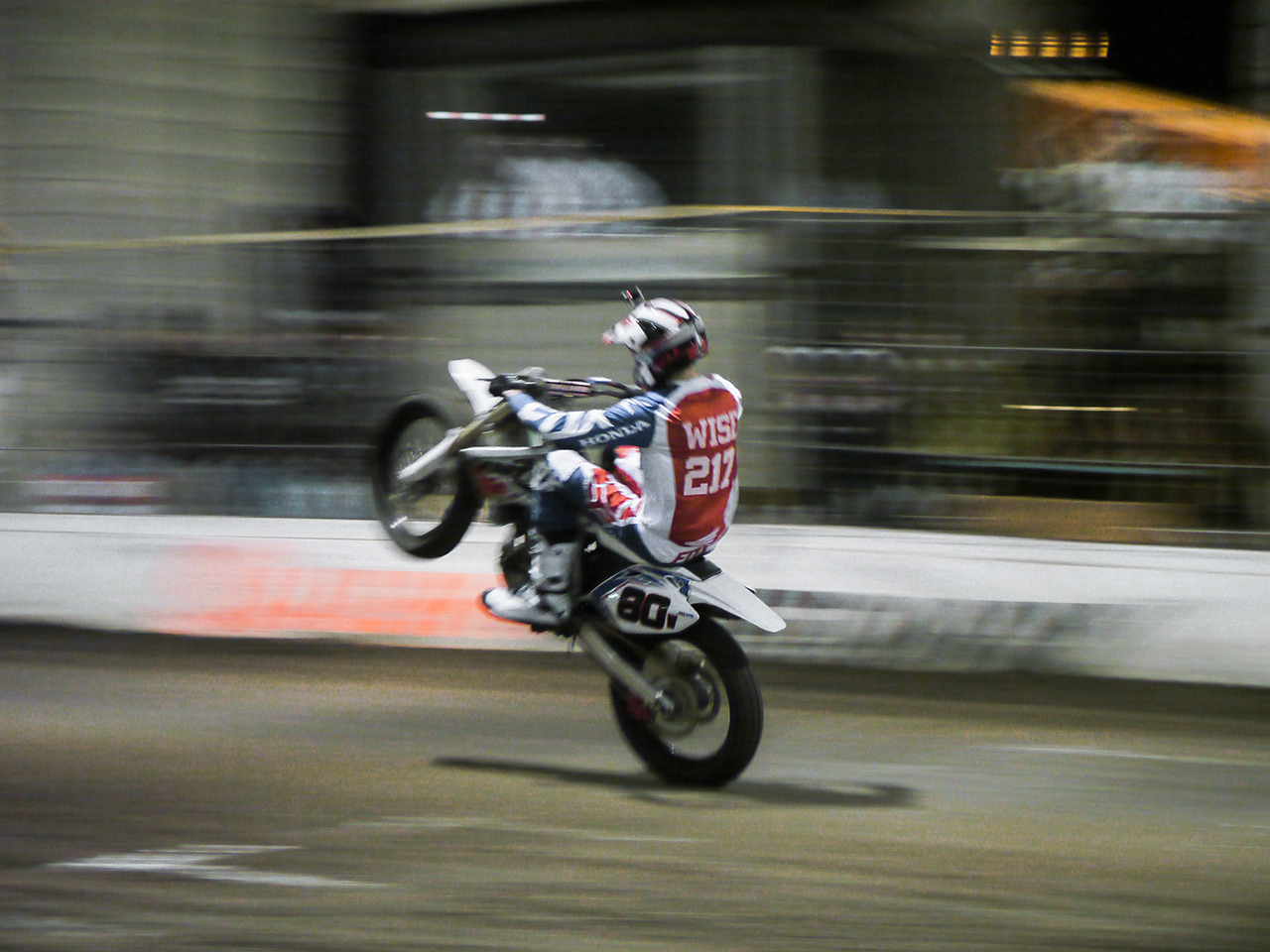 At the One Pro it was wheelie time.