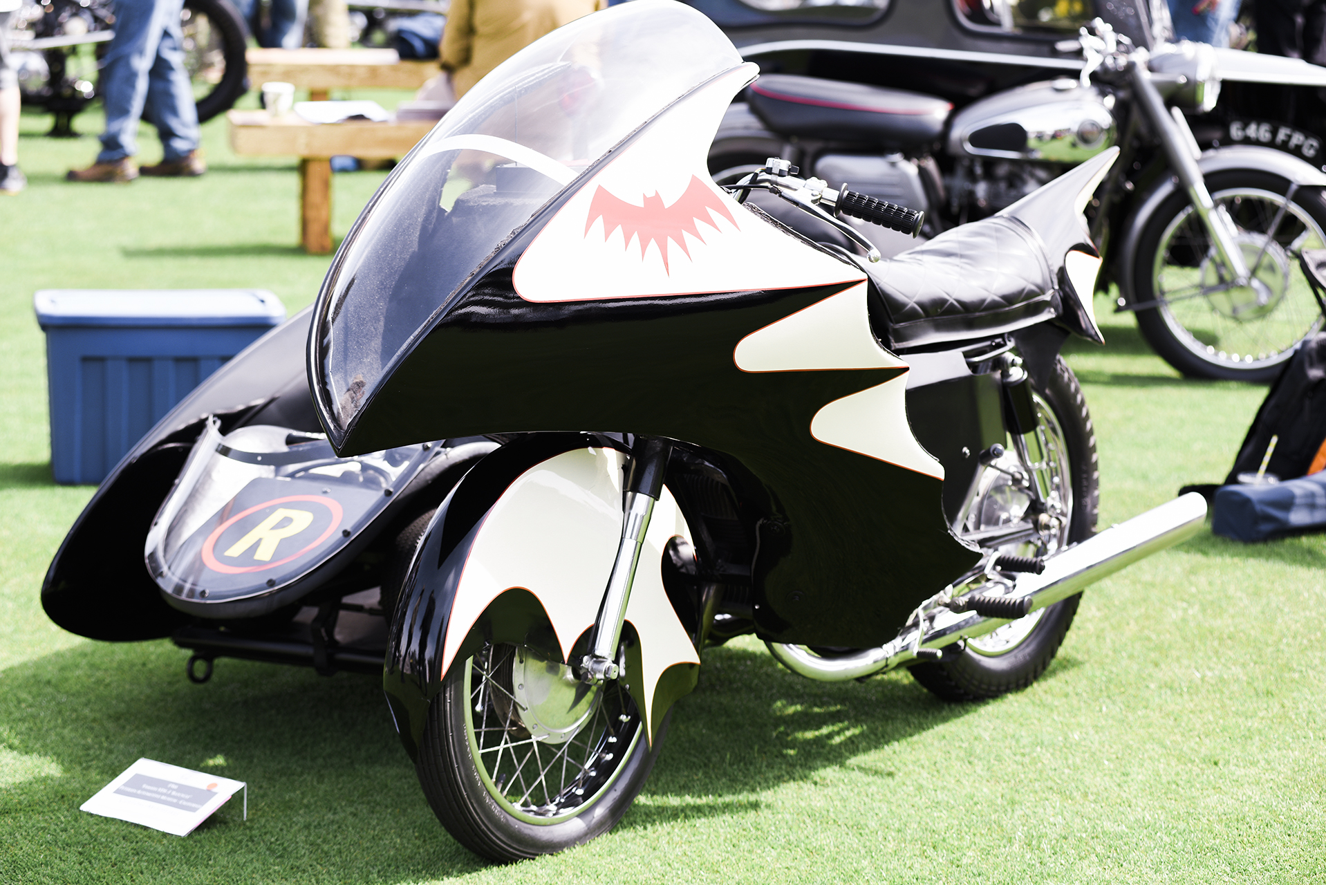 The Batcycle from the Adam West TV show. Under all the George Barris bodywork lurks a Yamaha two stroke.