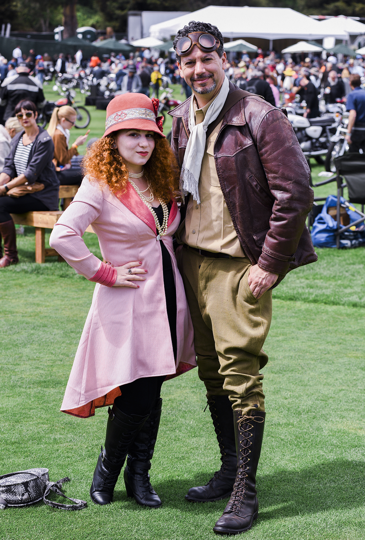 Winners of the Rustmag most stylish couple. Peter Alau and Debora Kaplan put everyone to shame with their vintage sartorial style.