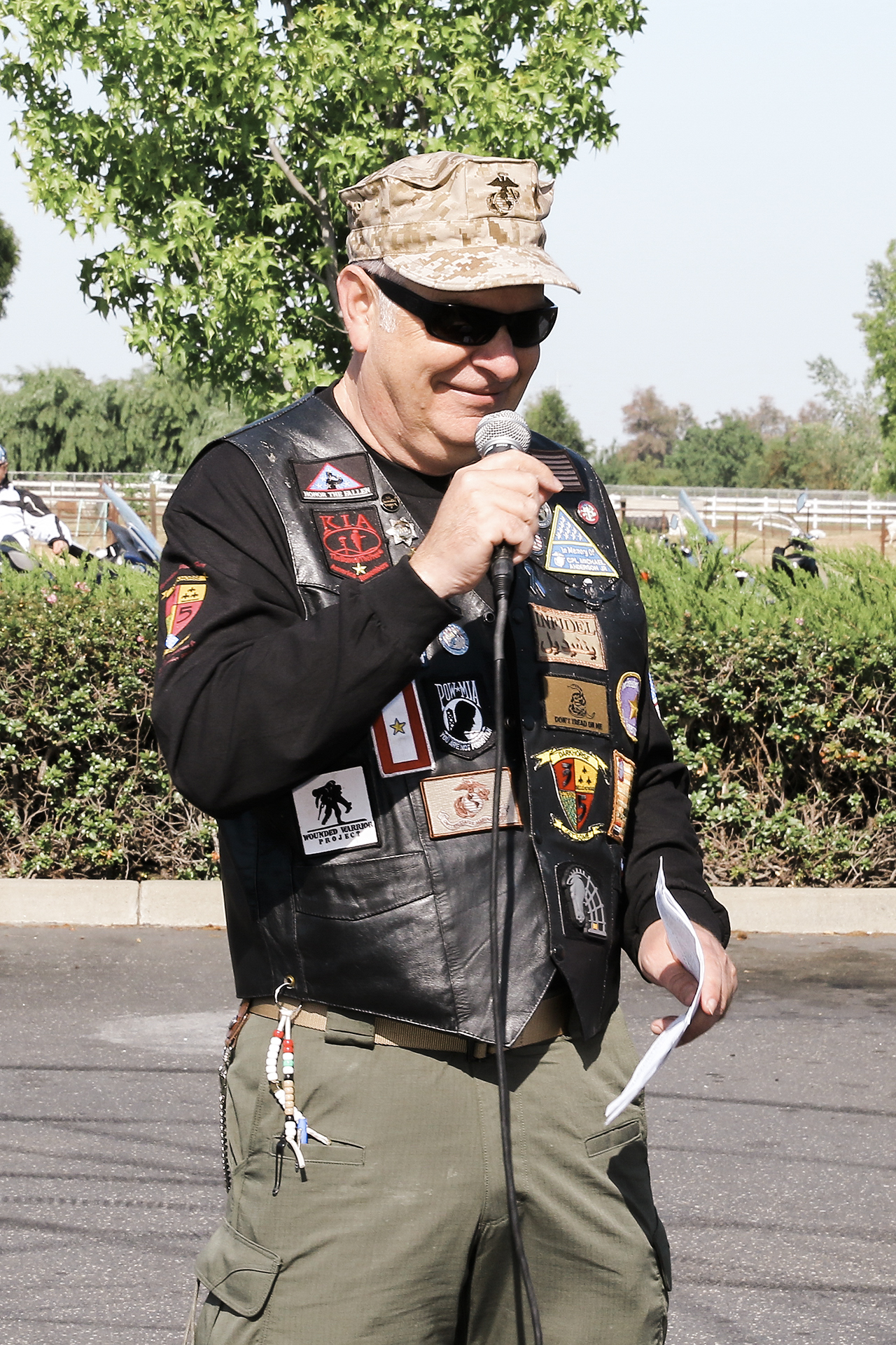 Ride organizer Mike Anderson started the True American Heroes ride to commemorate his son Corporal Mike Anderson JR.