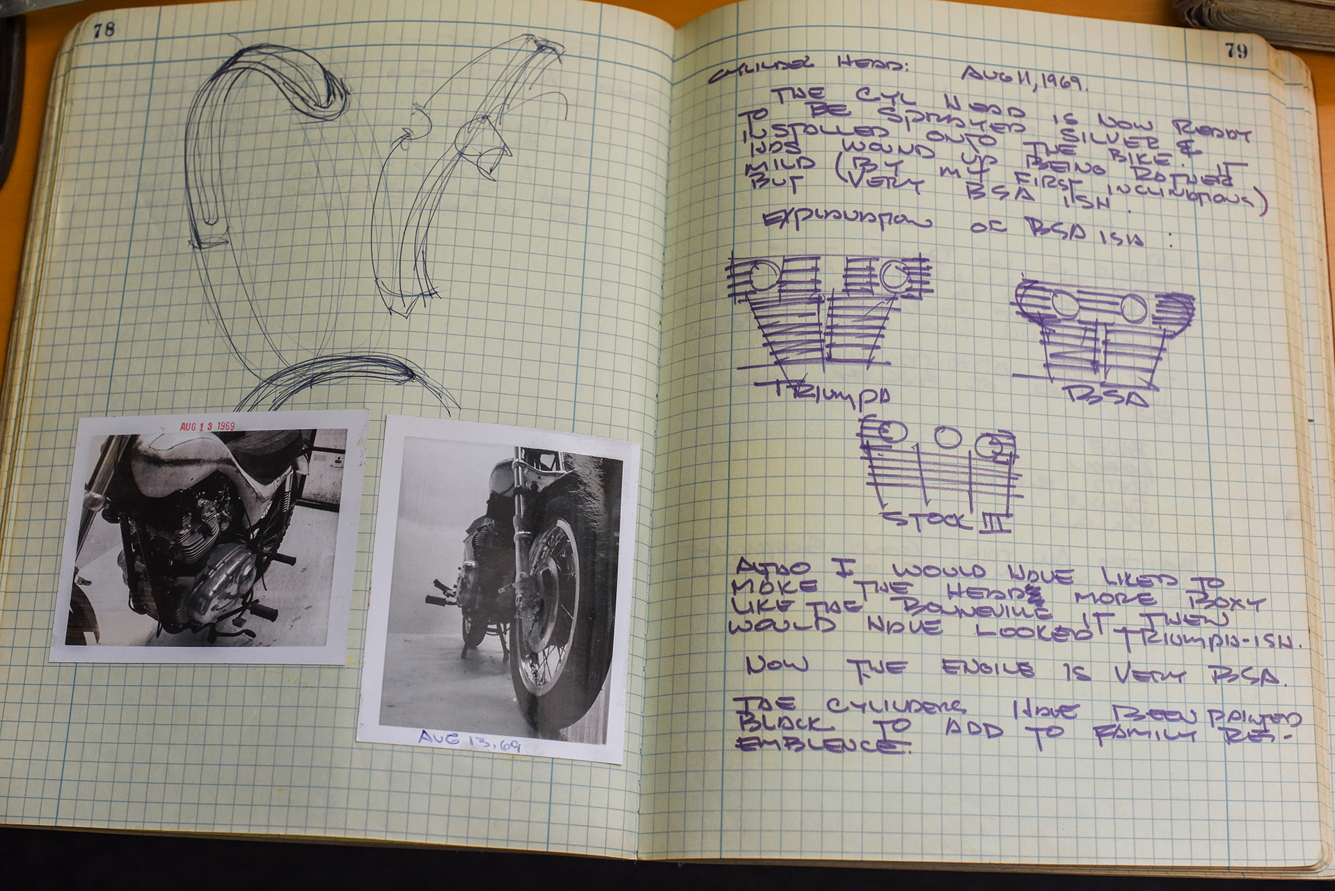 Vetter even looked at re-doing the finning on the cylinder to compliment the look of the bike.