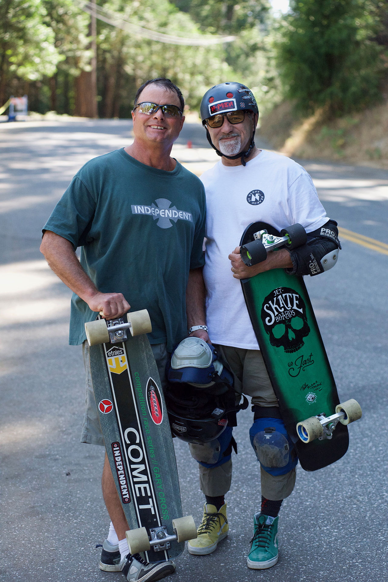 Long time best friends Gary Cross and Randy Katen. N-Men to the bone. Cross got second in both masters races.